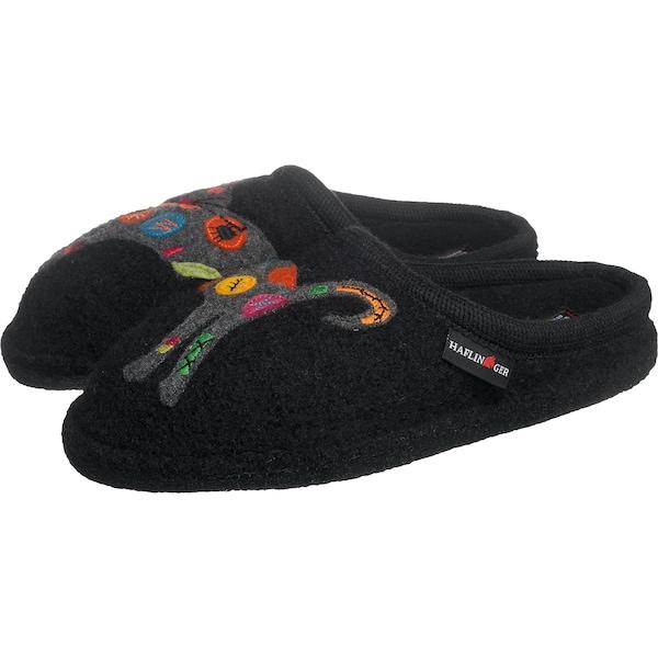 Hausschuhe für Frauen - HAFLINGER Pantoffeln 'Sassy' mischfarben schwarz  - Onlineshop ABOUT YOU