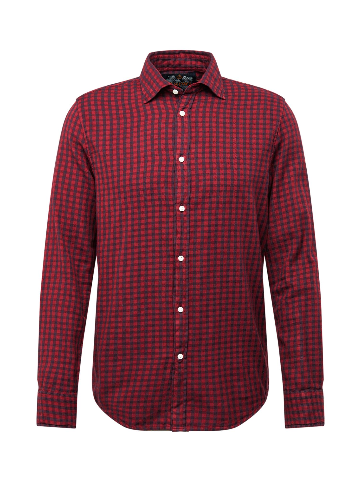 Shiwi Dalykiniai marškiniai 'David vichy' skaisti avietinė ar rubino spalva
