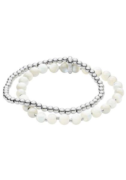 Armbaender für Frauen - FOSSIL Armband 'CLASSICS, JF02904040' silber weiß  - Onlineshop ABOUT YOU