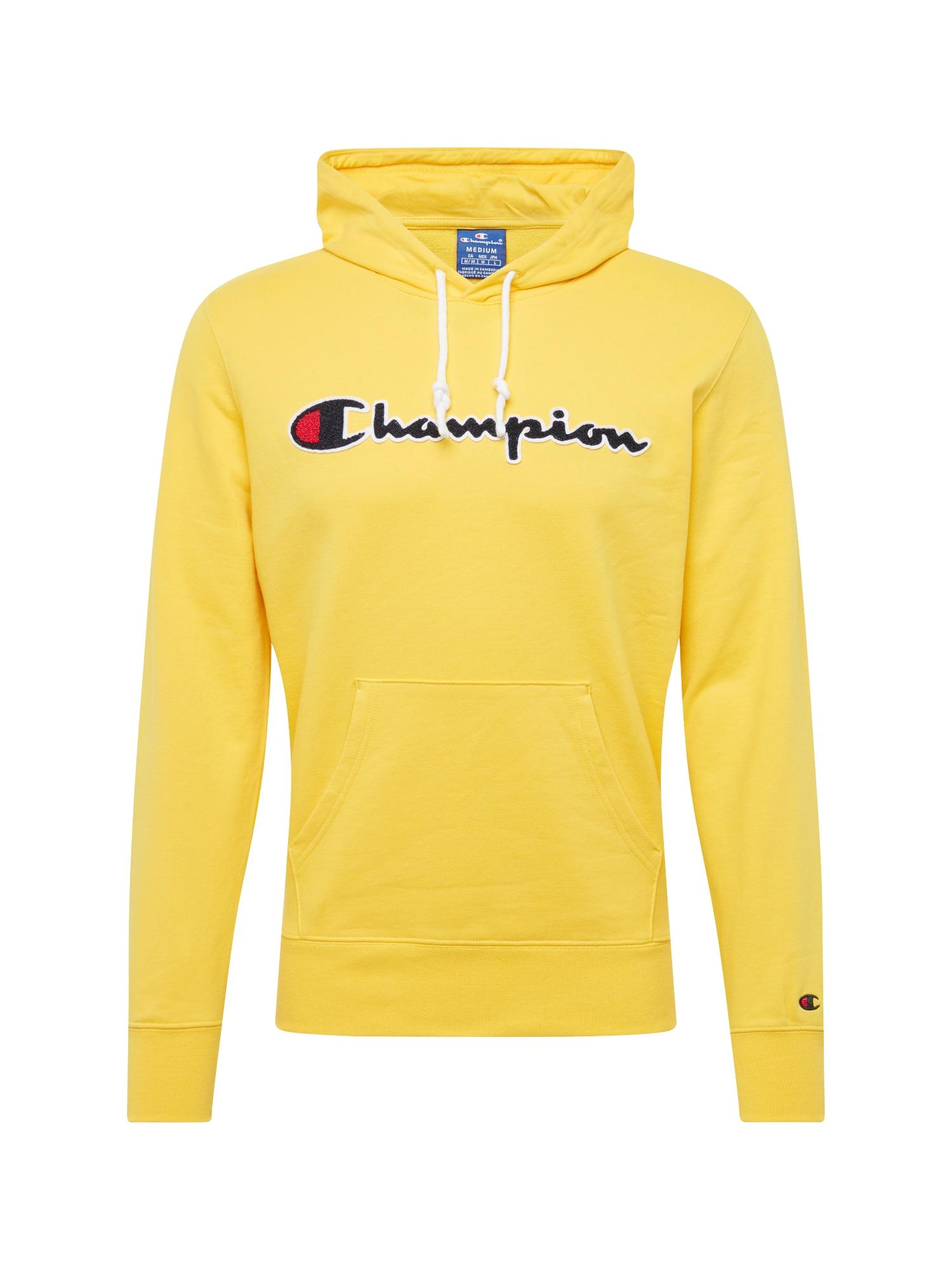 Mikina žlutá černá Champion Authentic Athletic Apparel