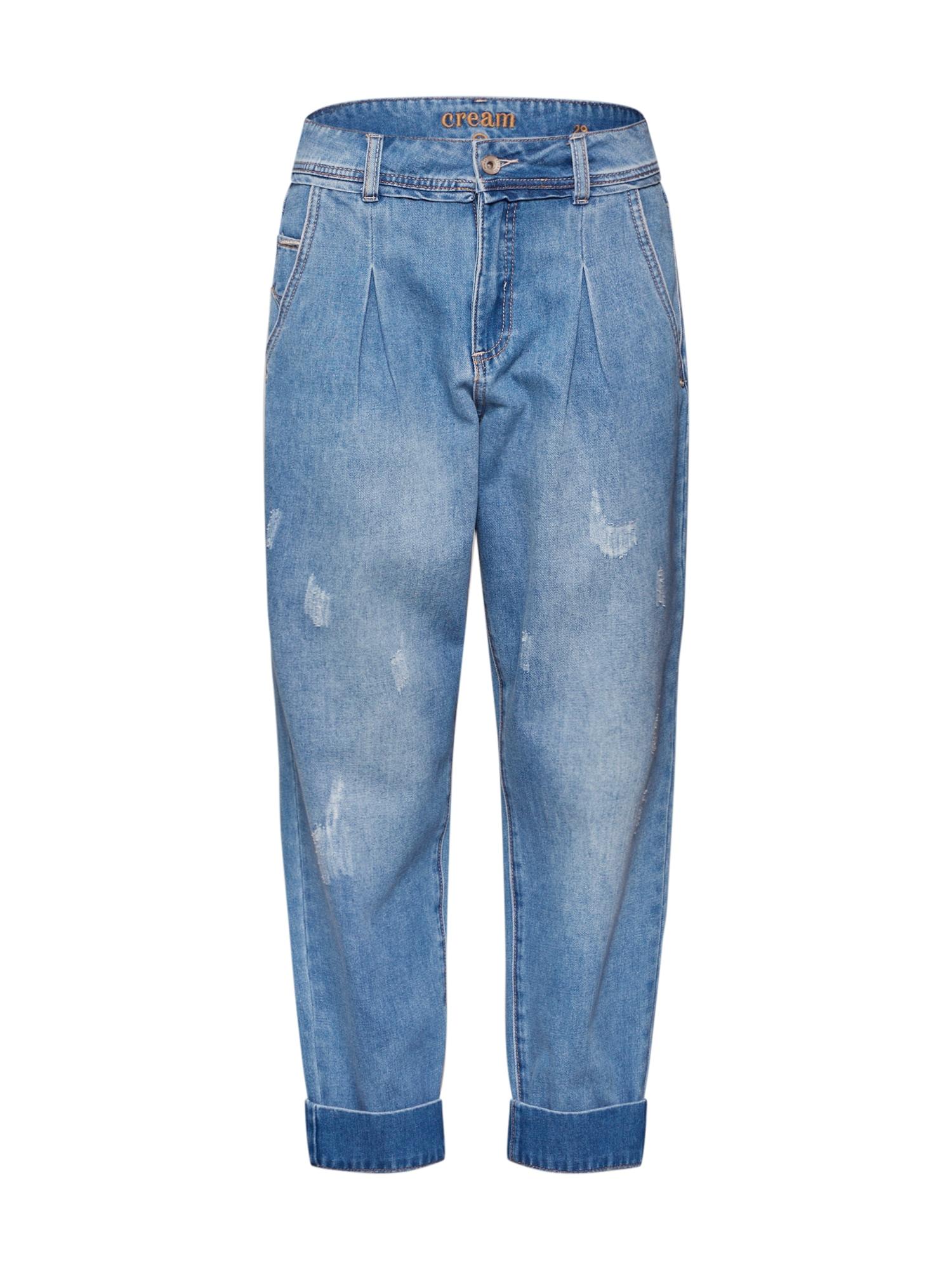 Cream Džinsai 'Samanda' tamsiai (džinso) mėlyna / šviesiai mėlyna
