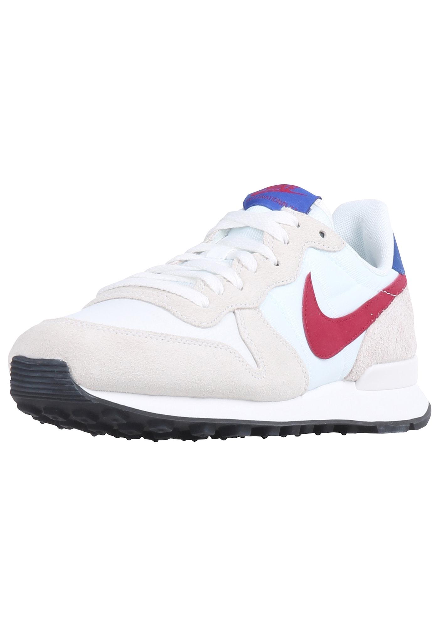 Nike Sportswear Sportbačiai be auliuko 'Internationalist' balta / smėlio / mėlyna / raudona