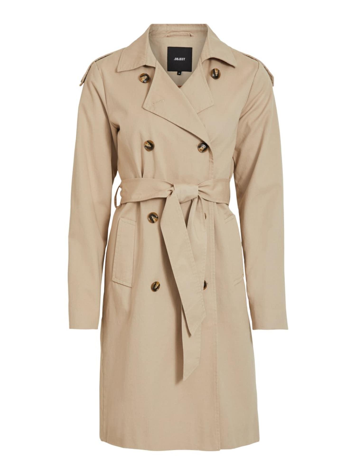 OBJECT Rudeninis-žieminis paltas smėlio