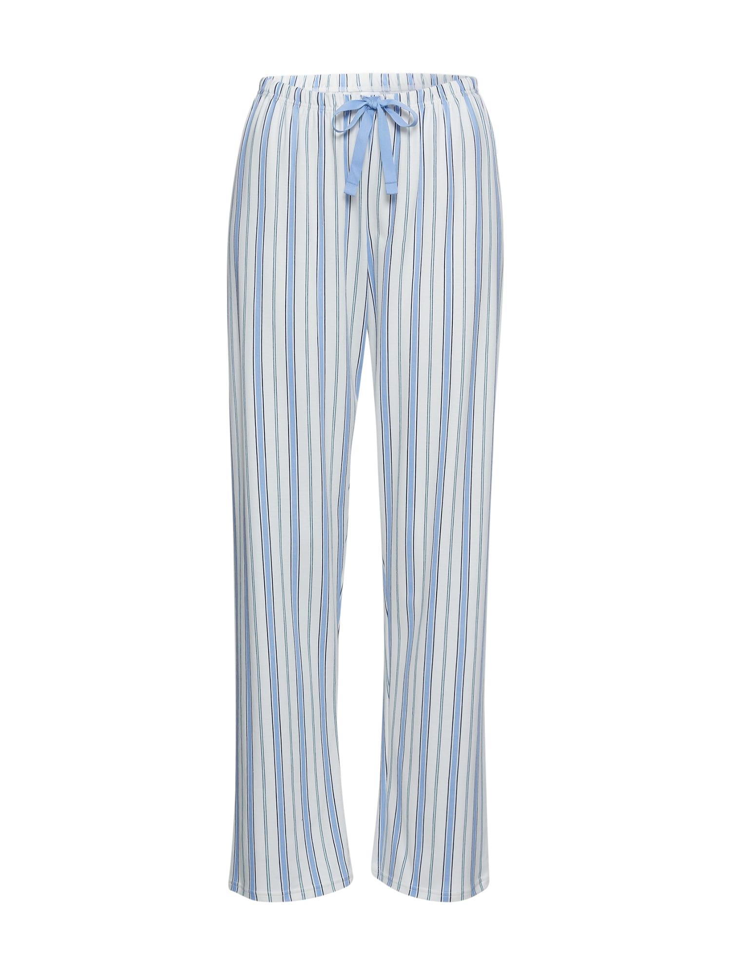 CALIDA Pižaminės kelnės balta / šviesiai mėlyna