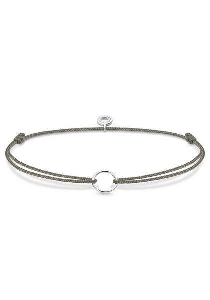 Armbaender für Frauen - Thomas Sabo Charm Armband 'Little Secret Kreis, LS066 173 5 L20v' rauchgrau silber  - Onlineshop ABOUT YOU
