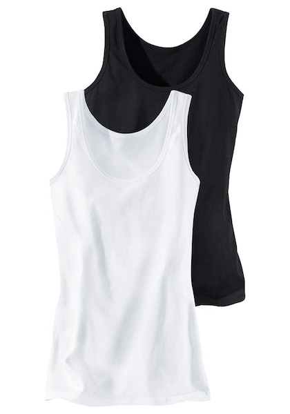 Bademode - Tanktops (2 Stück) 'Cotton made in Africa' › H.I.S › schwarz weiß  - Onlineshop ABOUT YOU