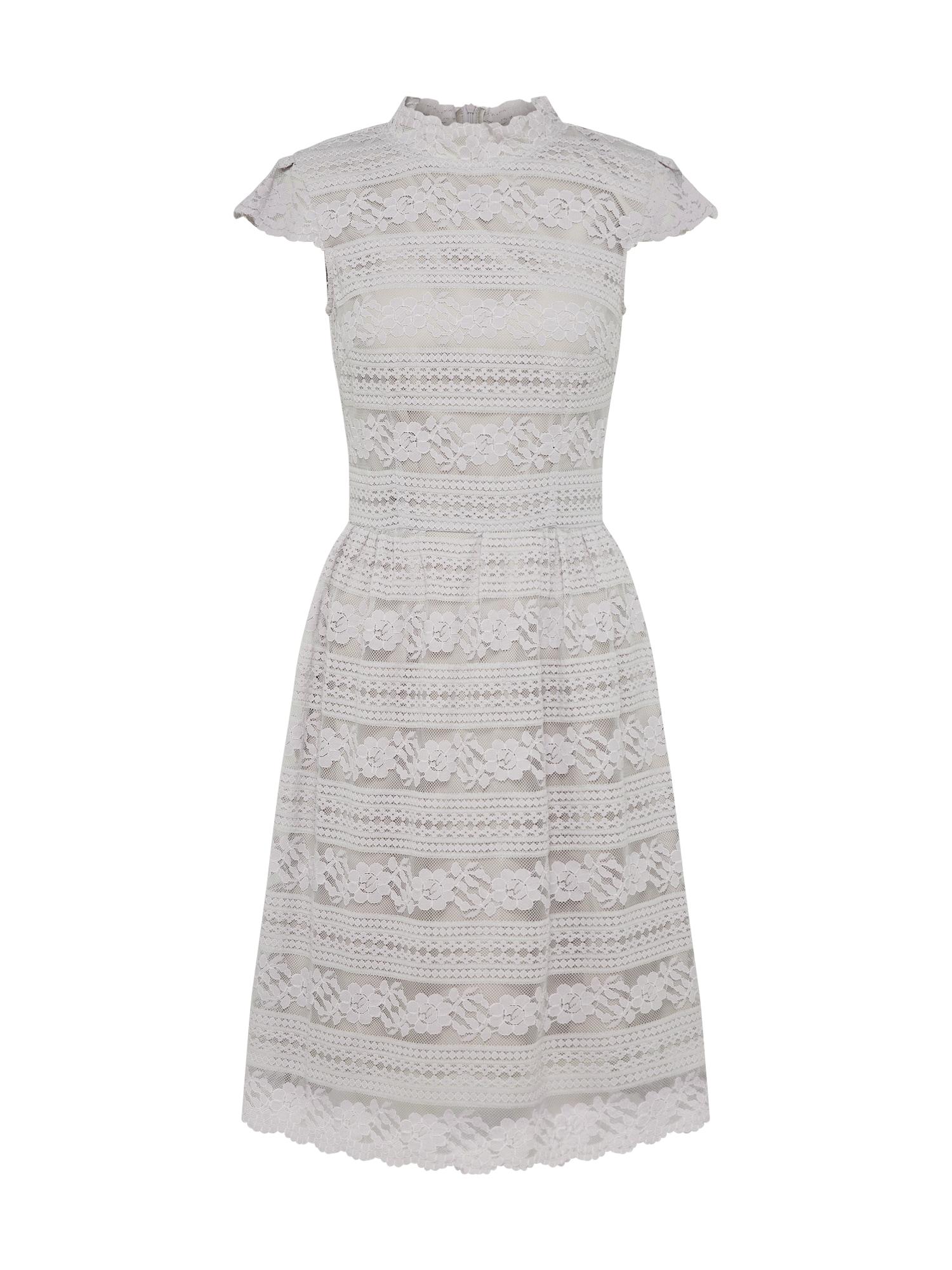 Koktejlové šaty šedobéžová Carolina Cavour