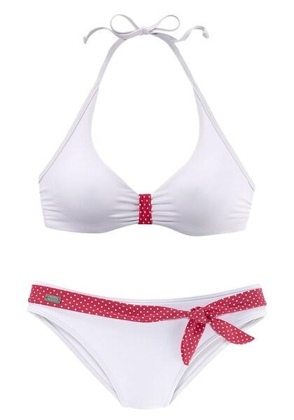 Bademode für Frauen - BUFFALO Bügel Bikini pink weiß  - Onlineshop ABOUT YOU