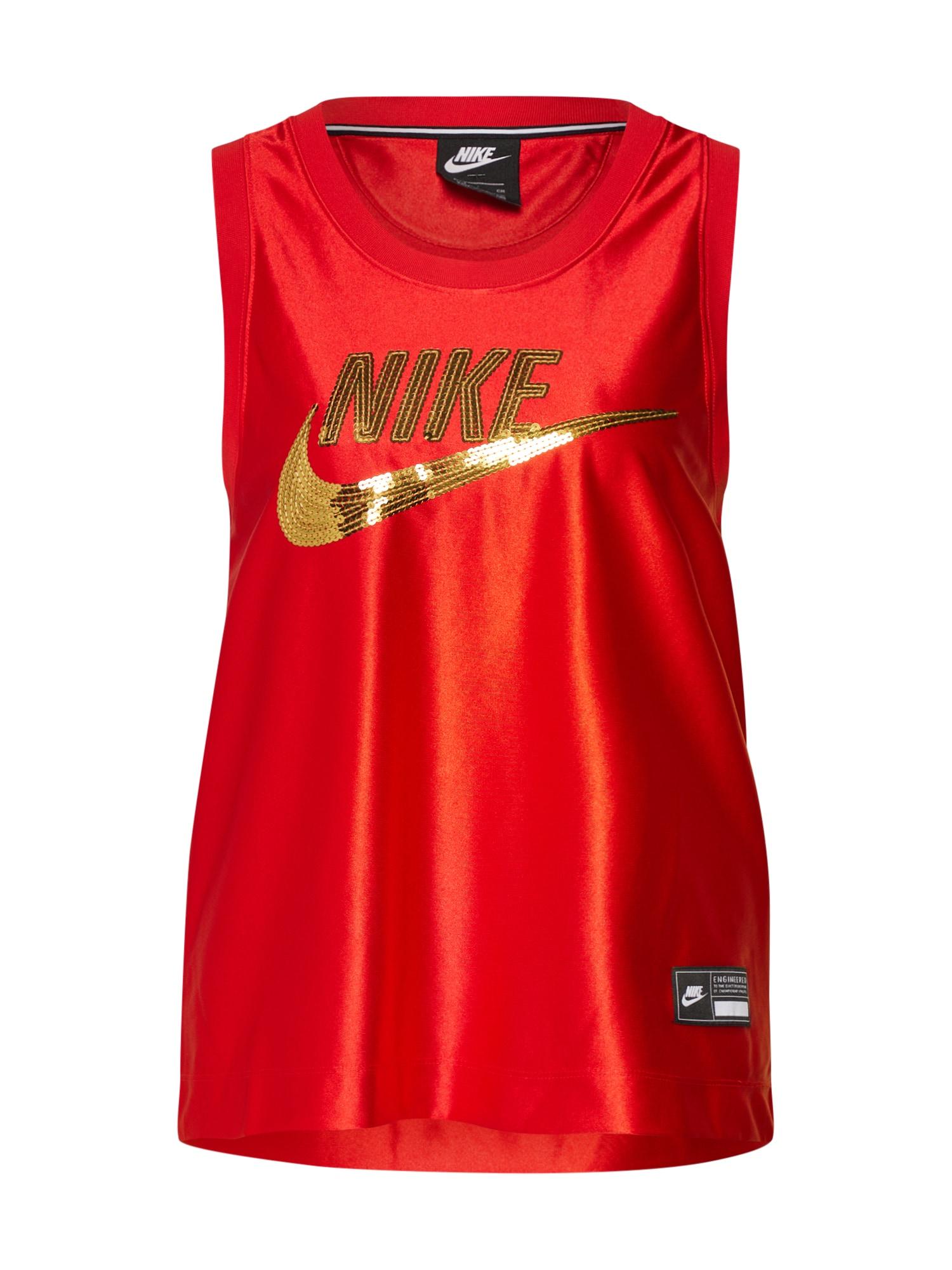 Nike Sportswear Palaidinė be rankovių 'Sportswear W' raudona