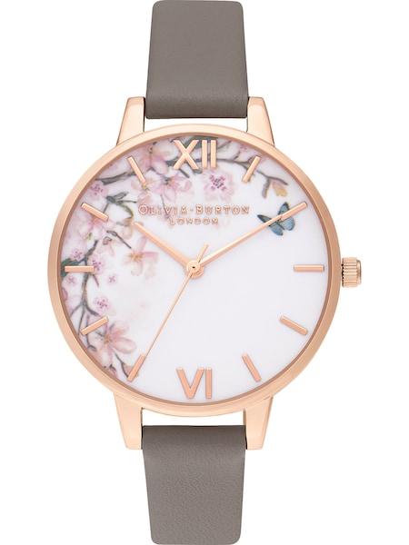 Uhren für Frauen - Damenuhr 'Pretty Blossom' › Olivia Burton › rosegold greige weiß  - Onlineshop ABOUT YOU
