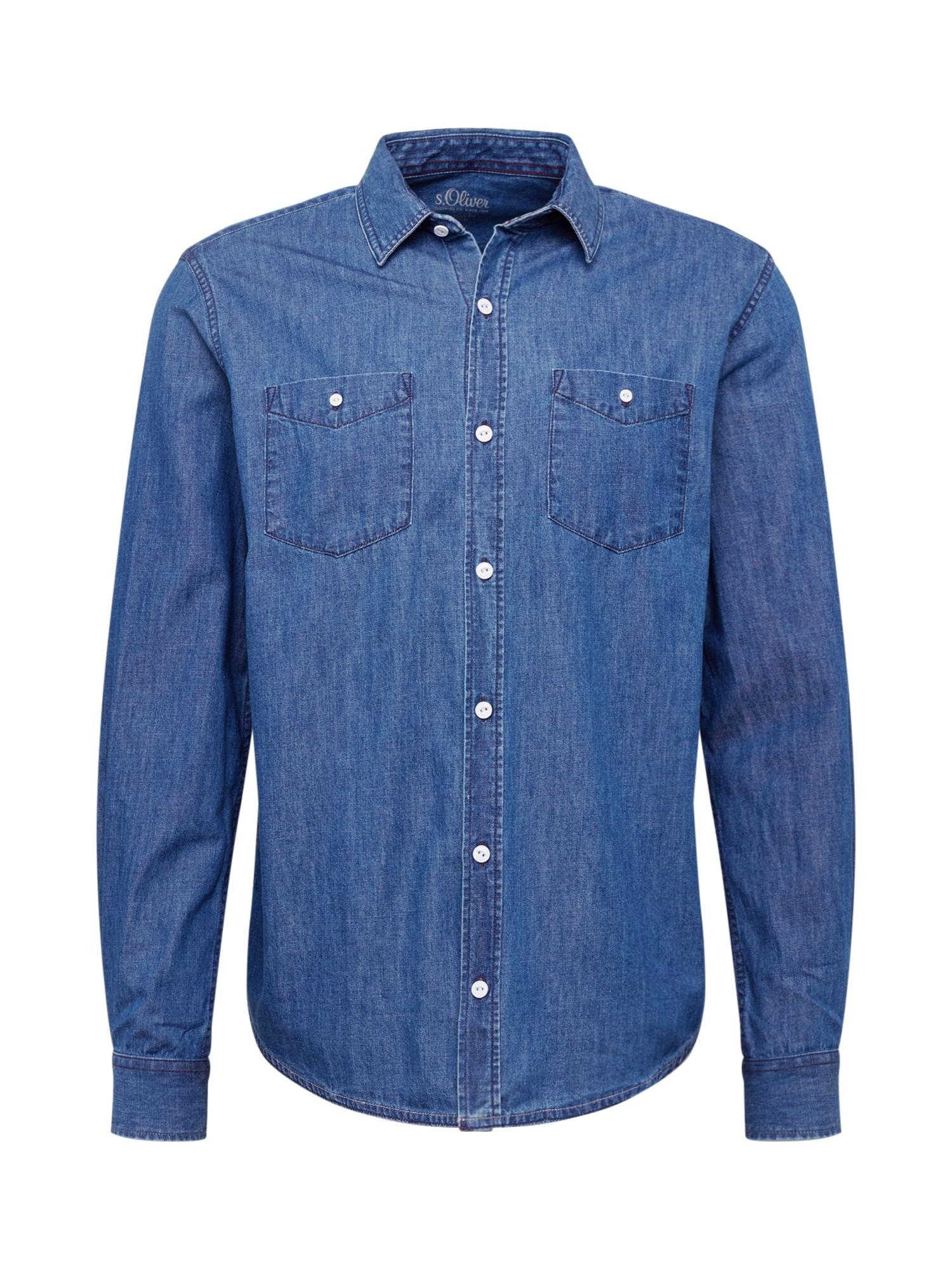 s.Oliver Dalykiniai marškiniai mėlyna