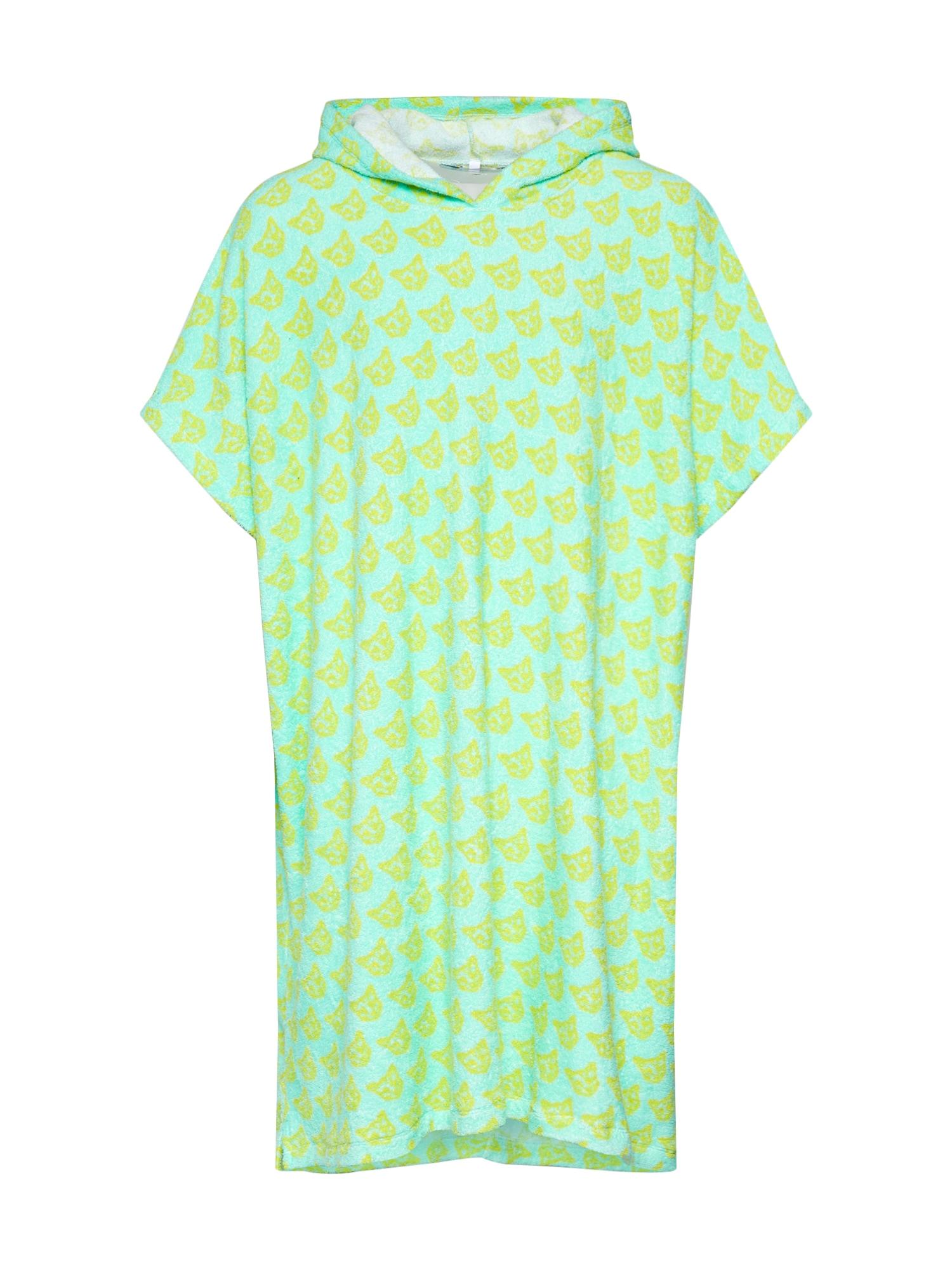 ABOUT YOU X PARI Trumpas maudymosi chalatas 'Phil' turkio spalva / neoninė žalia