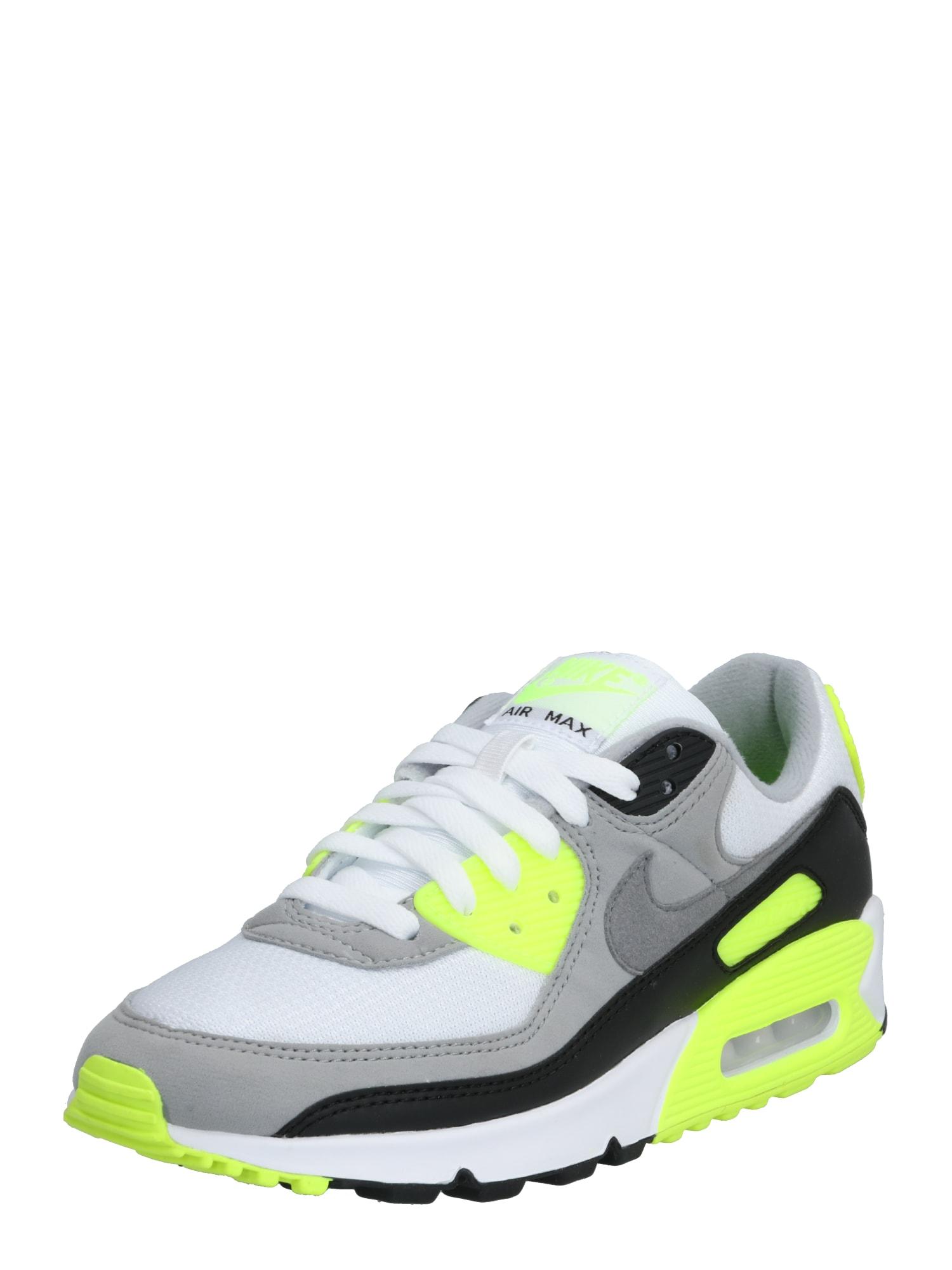 Nike Sportswear Nízke tenisky 'Nike Air Max 90'  sivá / limetová / biela