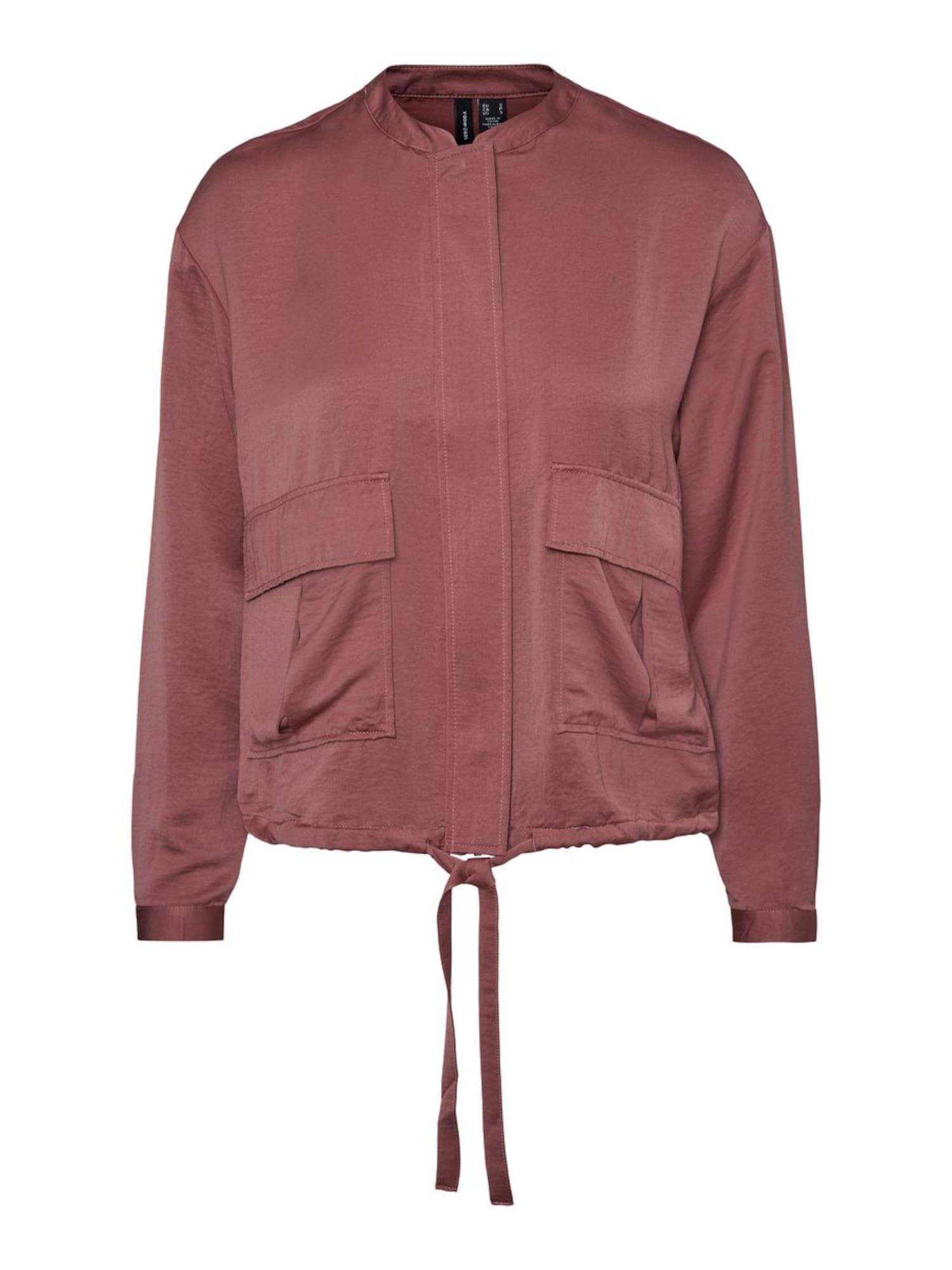 VERO MODA Demisezoninė striukė 'Freja' rožinio aukso spalva