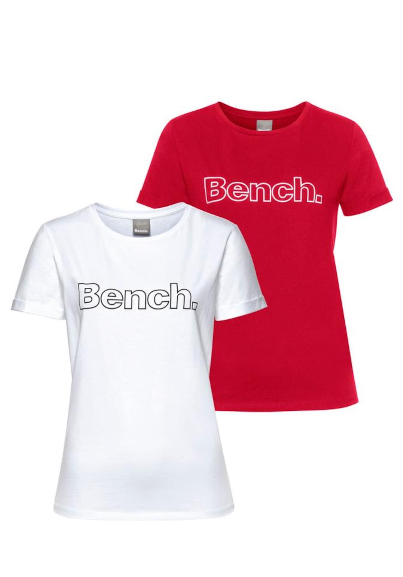 BENCH Marškinėliai balta / raudona