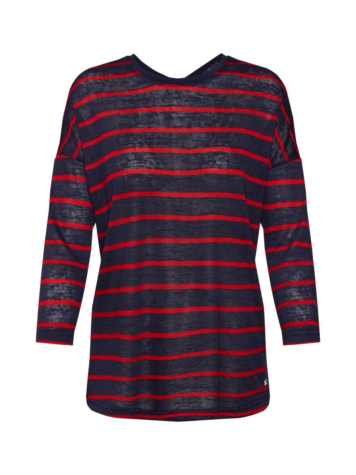 Tričko námořnická modř červená Sublevel