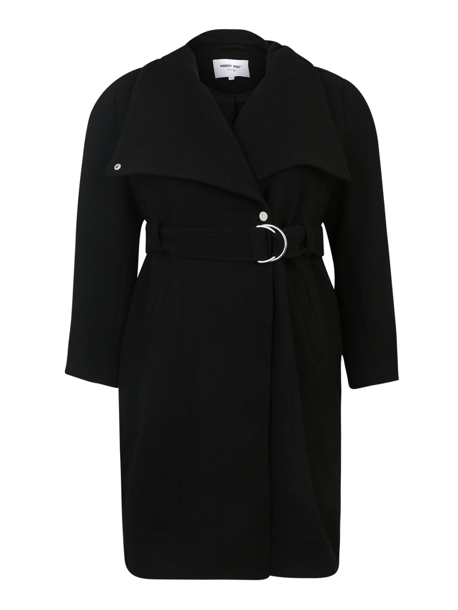 ABOUT YOU Curvy Rudeninis-žieminis paltas 'Alma' juoda
