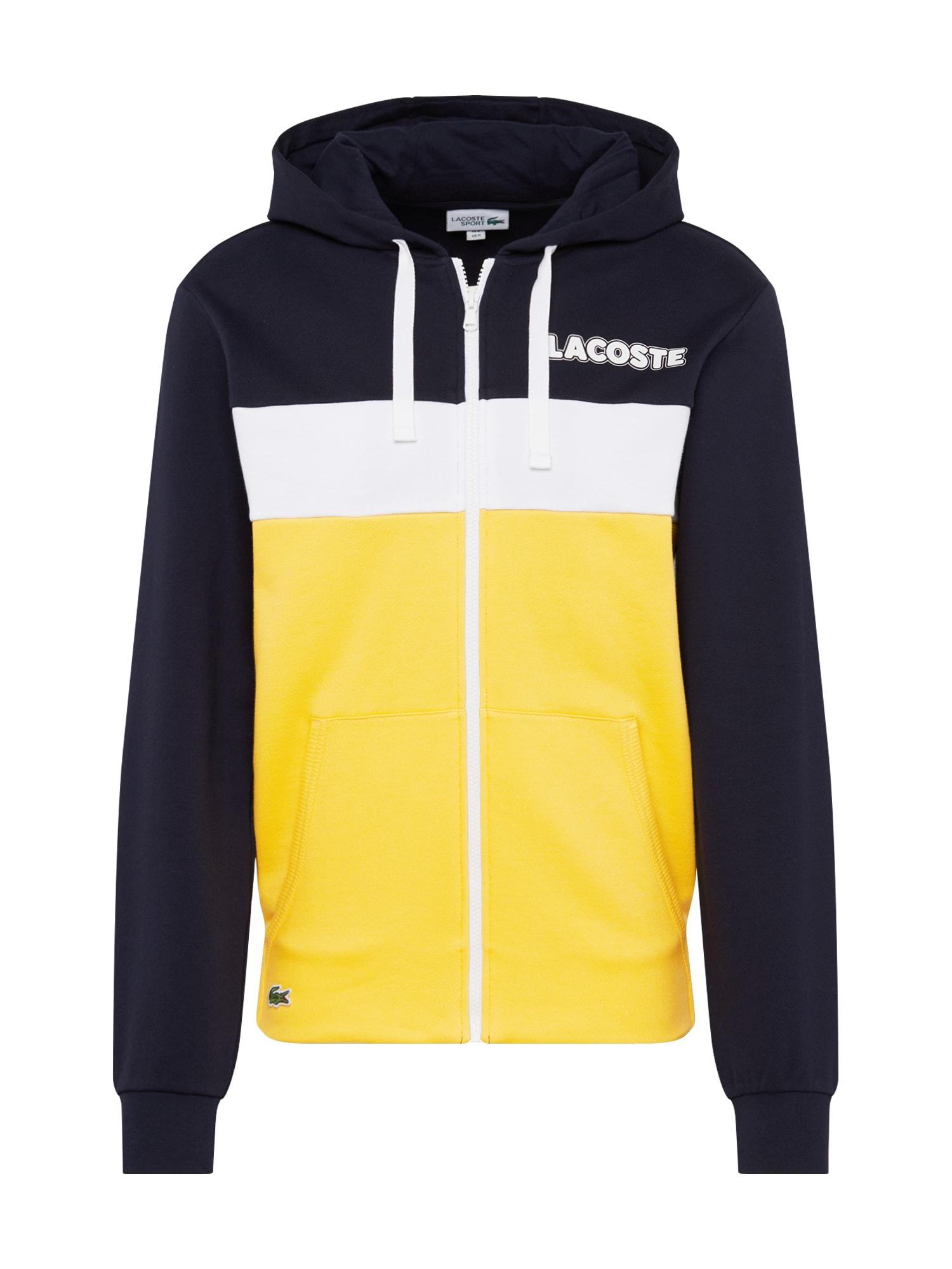 LACOSTE Džemperis tamsiai mėlyna / geltona / balta