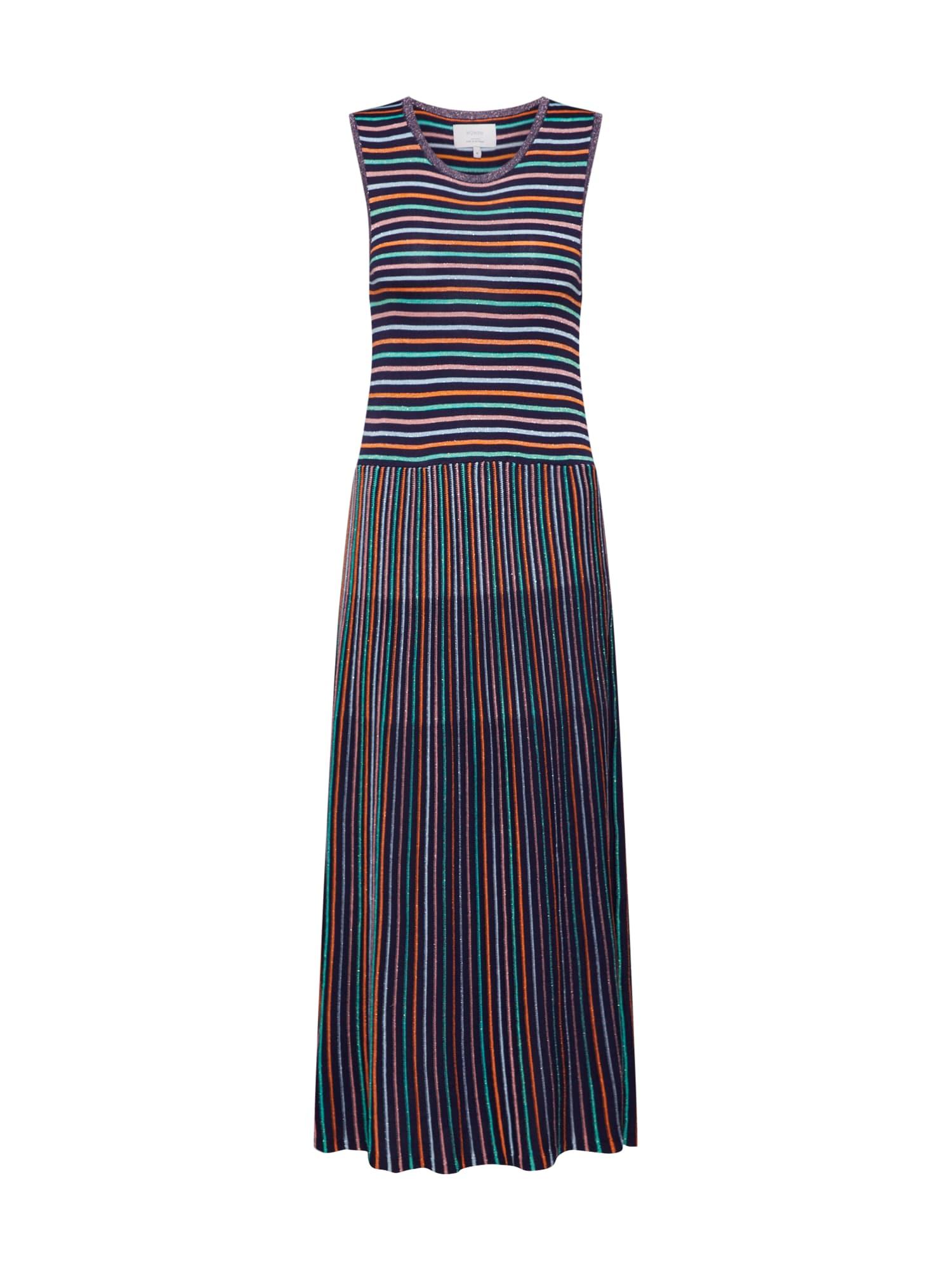 Šaty Joaquina modrá mix barev NÜMPH