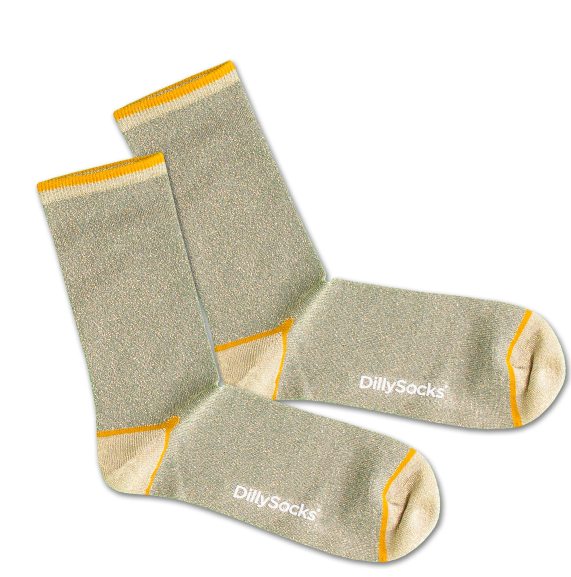 Ponožky Sweet Playground žlutá zelená DillySocks