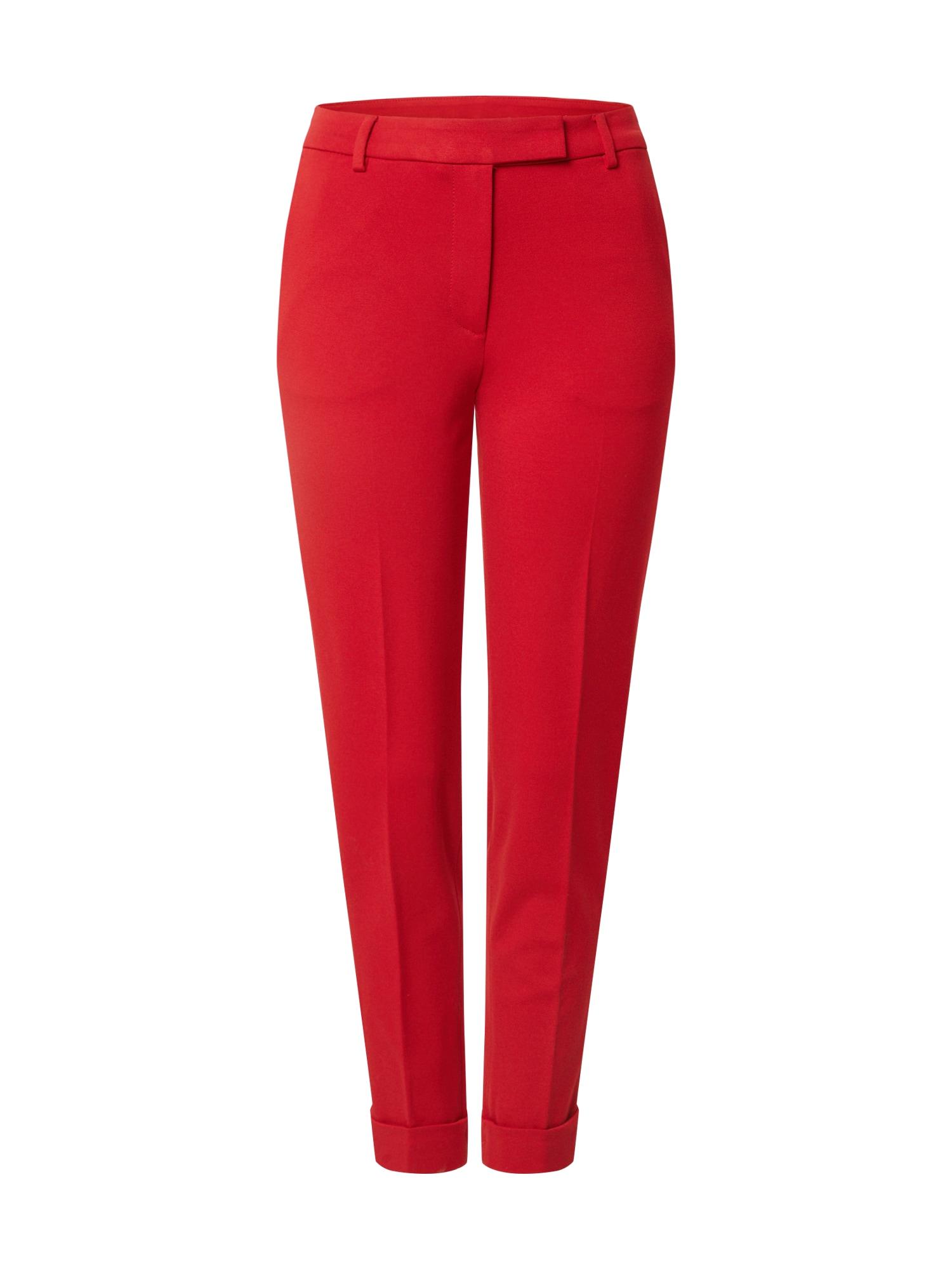 ESPRIT Kelnės su kantu raudona