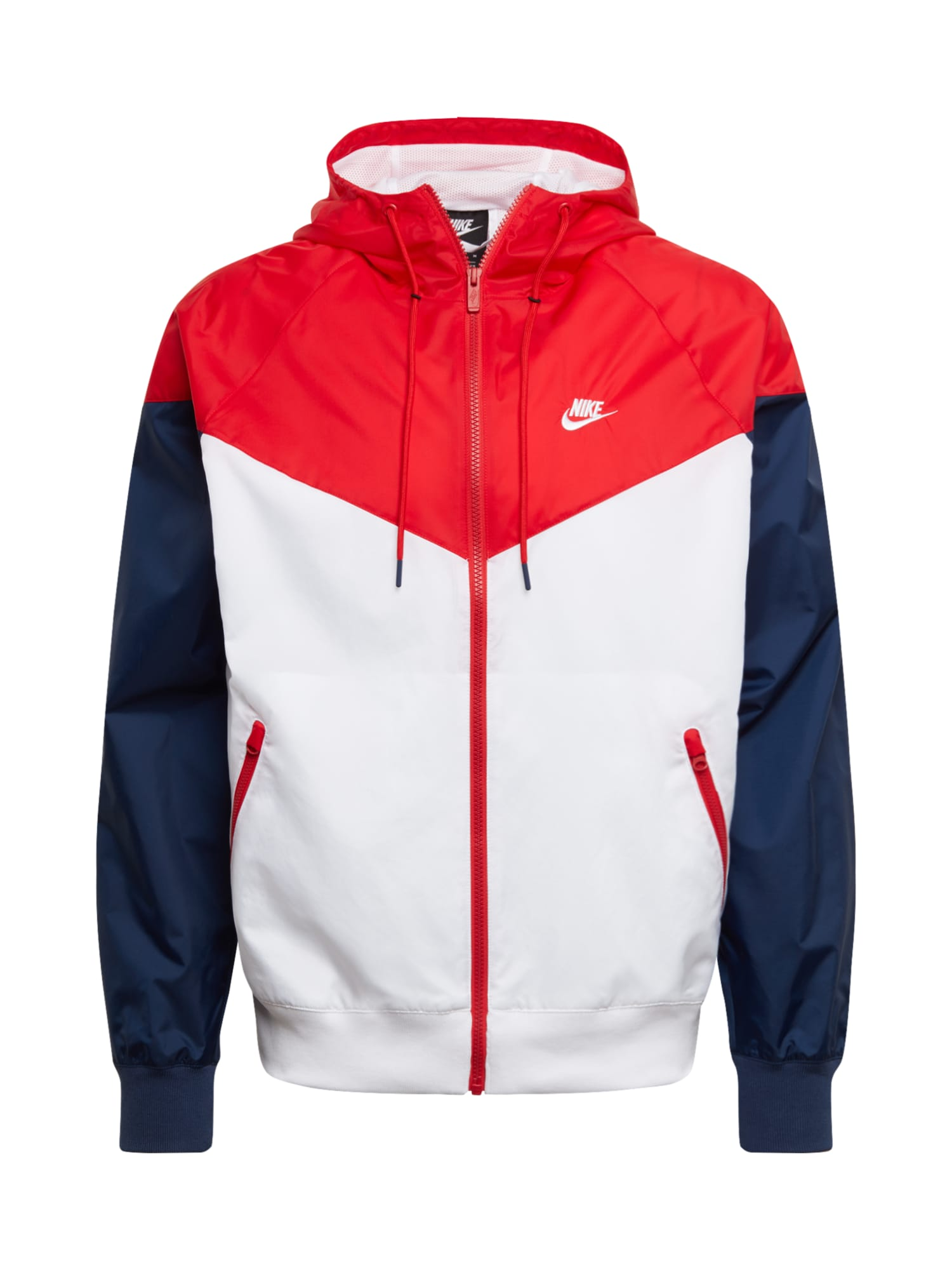 Nike Sportswear Demisezoninė striukė raudona / tamsiai mėlyna / balta