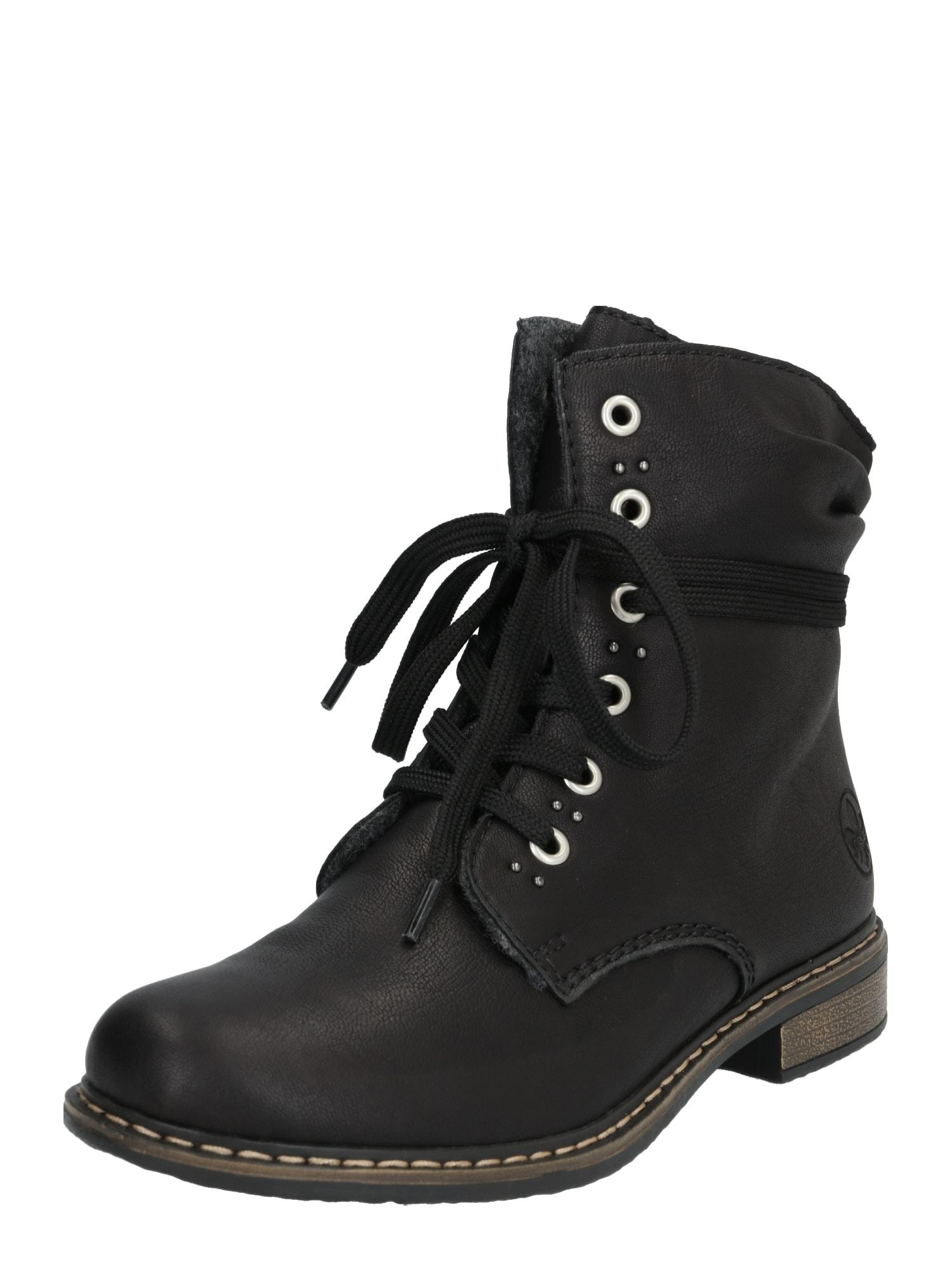 RIEKER Suvarstomieji kulkšnis dengiantys batai juoda