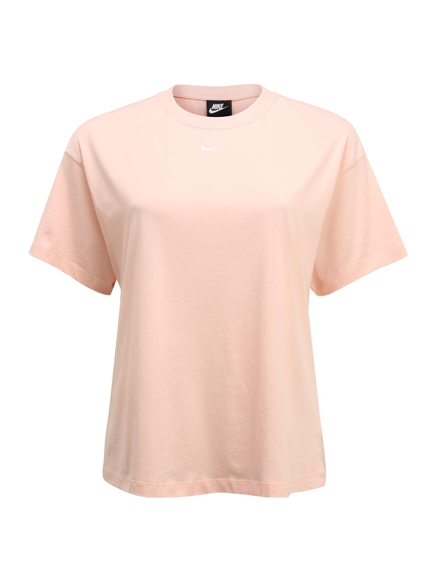 Nike Sportswear Tričko 'W NSW ESSNTL TOP SS BF PLUS'  koralová
