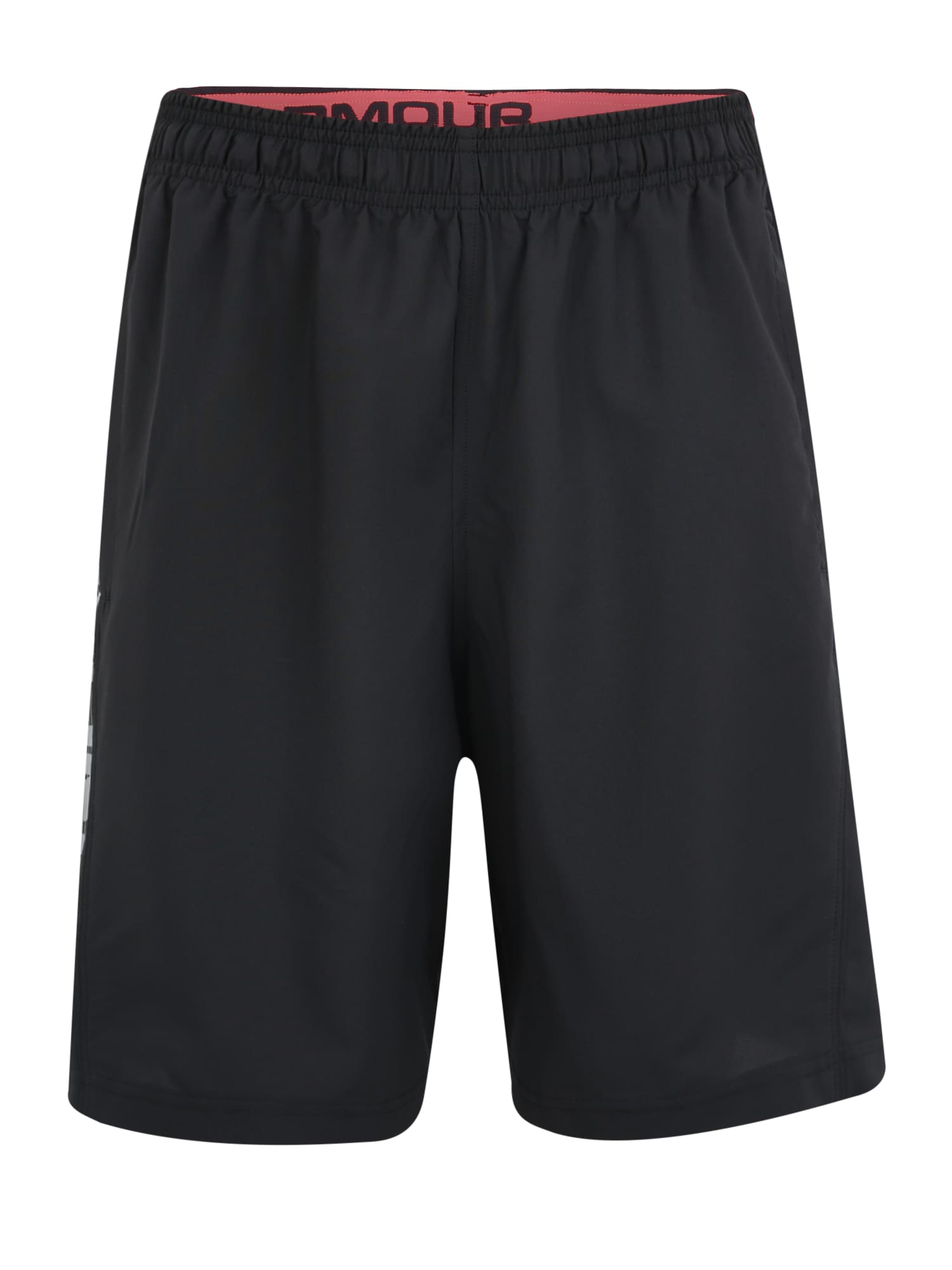 UNDER ARMOUR Športové nohavice  čierna / sivá / červená