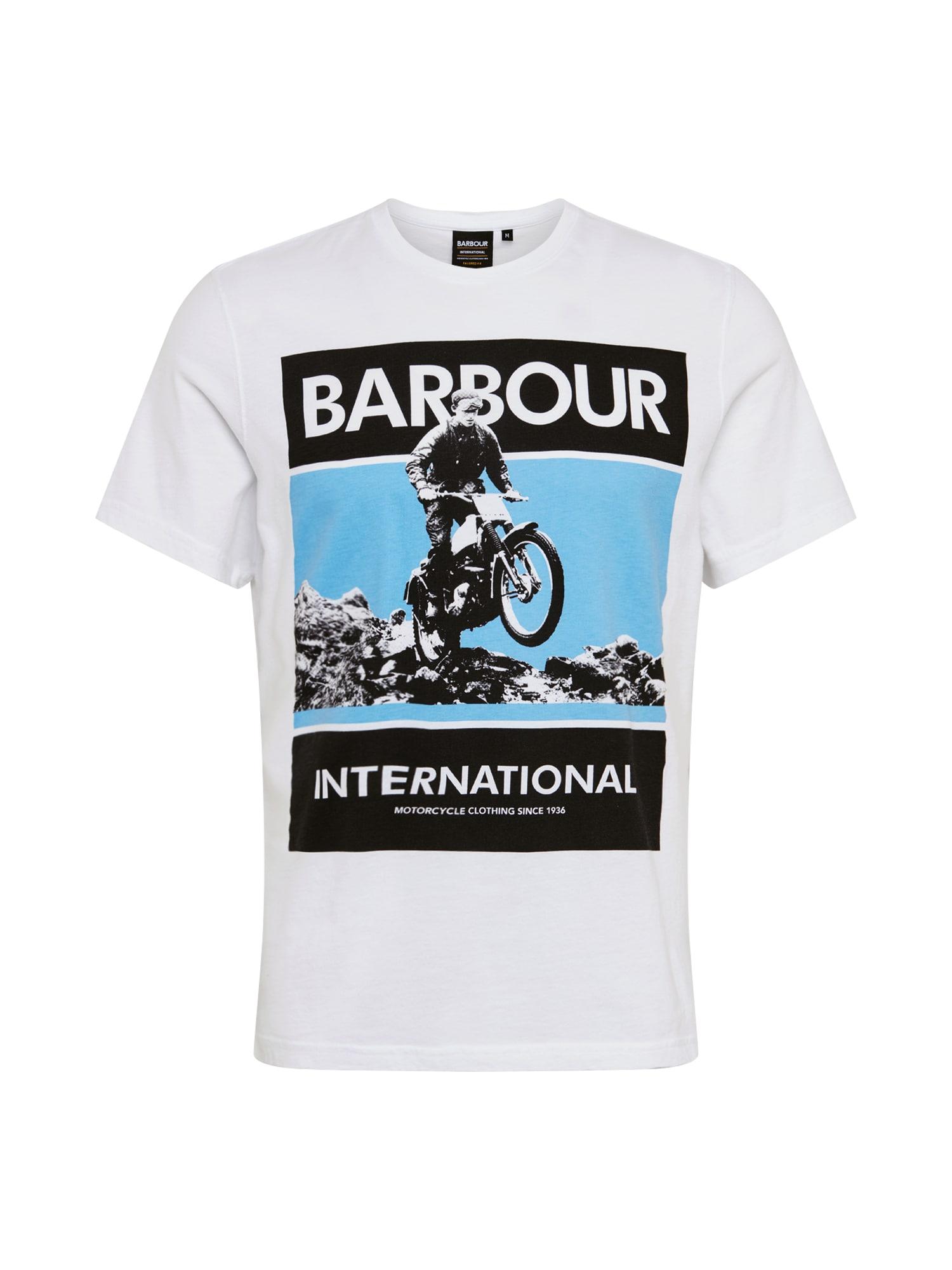 Barbour International Tričko  biela / zmiešané farby