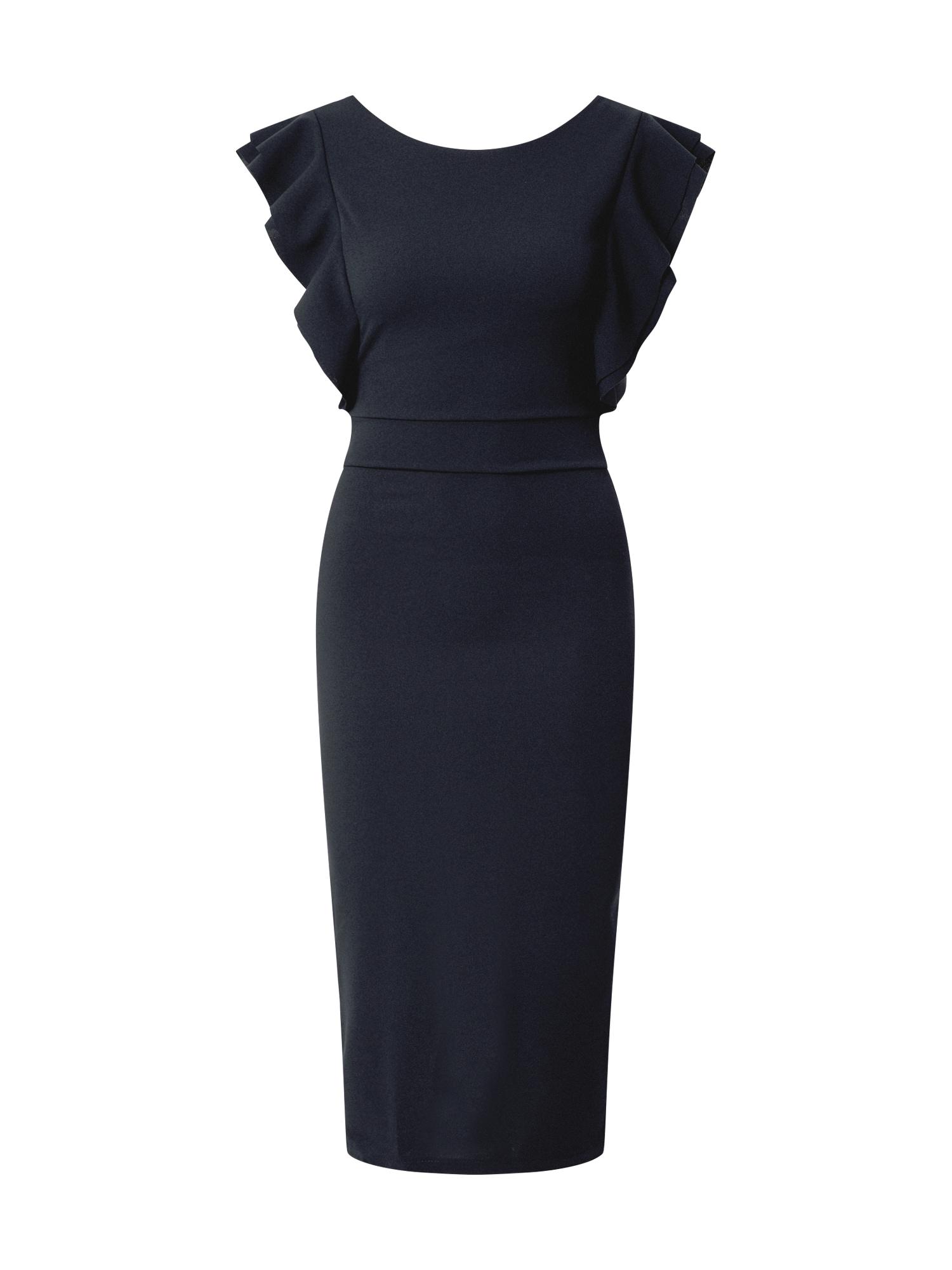 WAL G. Trumpa kokteilinė suknelė kobalto mėlyna