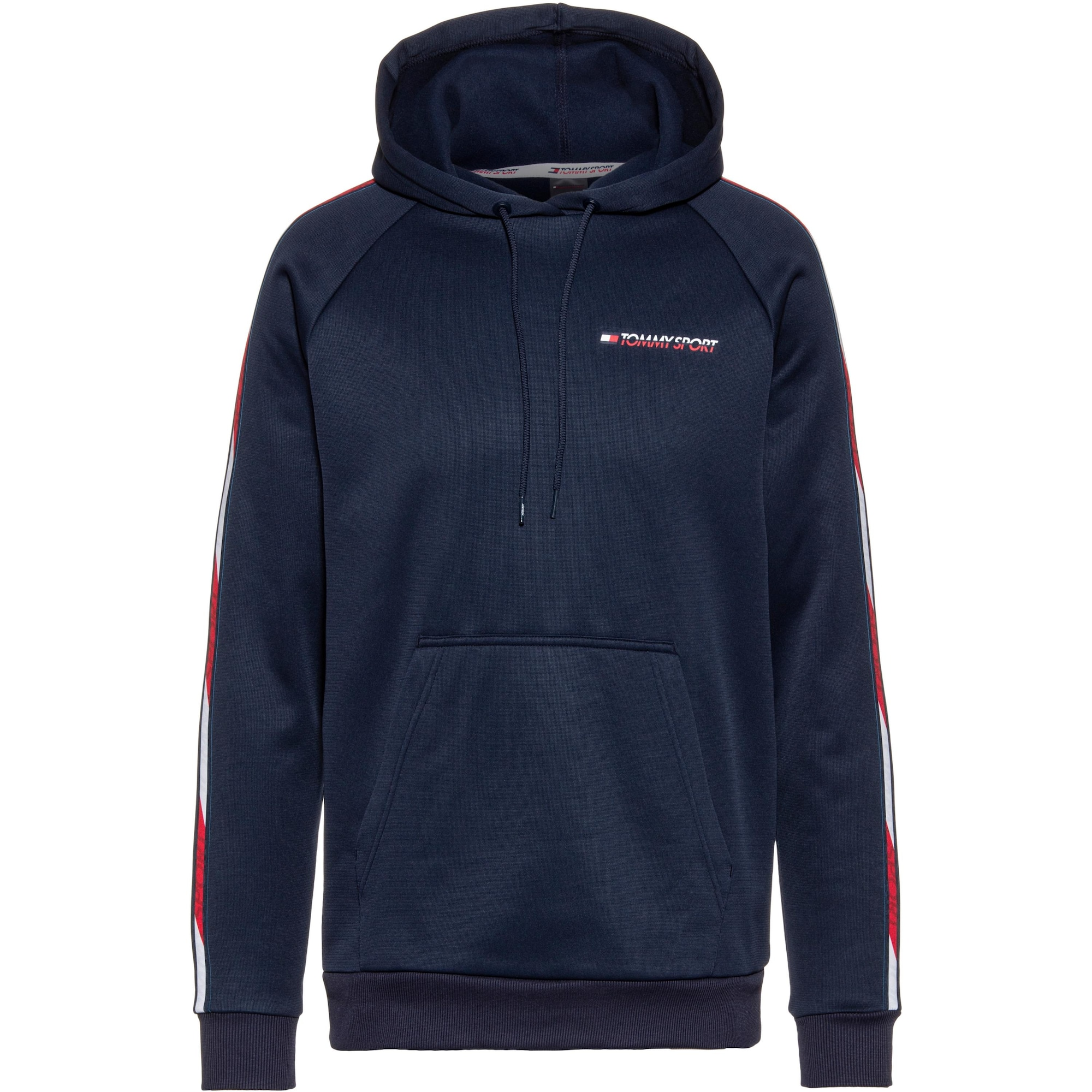 Tommy Sport Sportovní mikina  modrá / červená / bílá