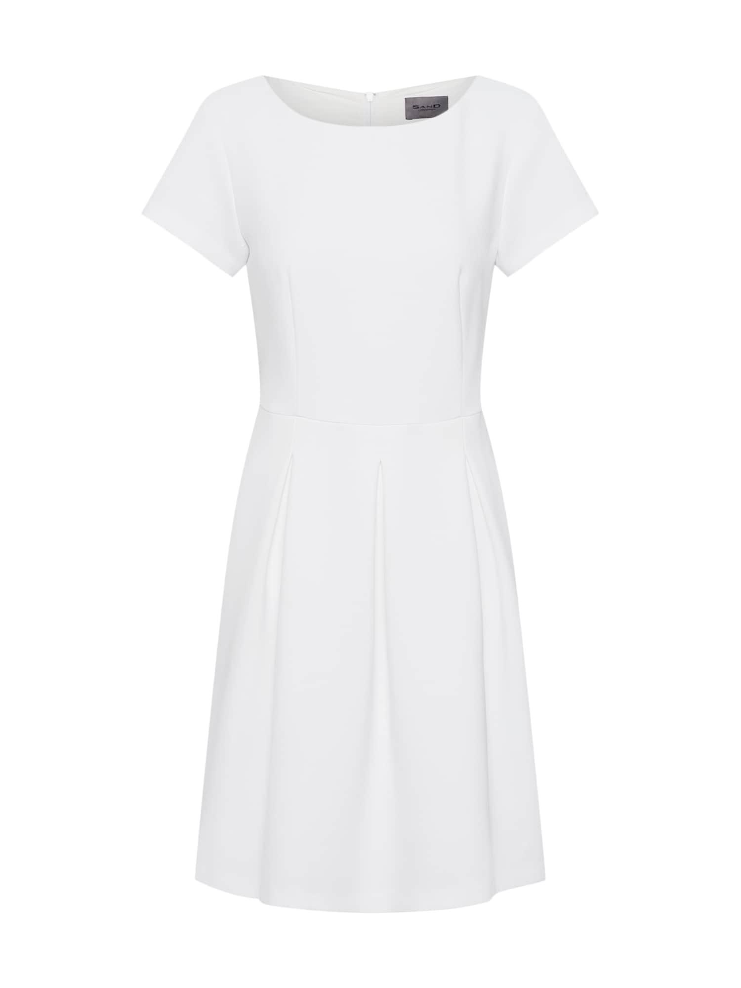 Koktejlové šaty Norma bílá SAND COPENHAGEN