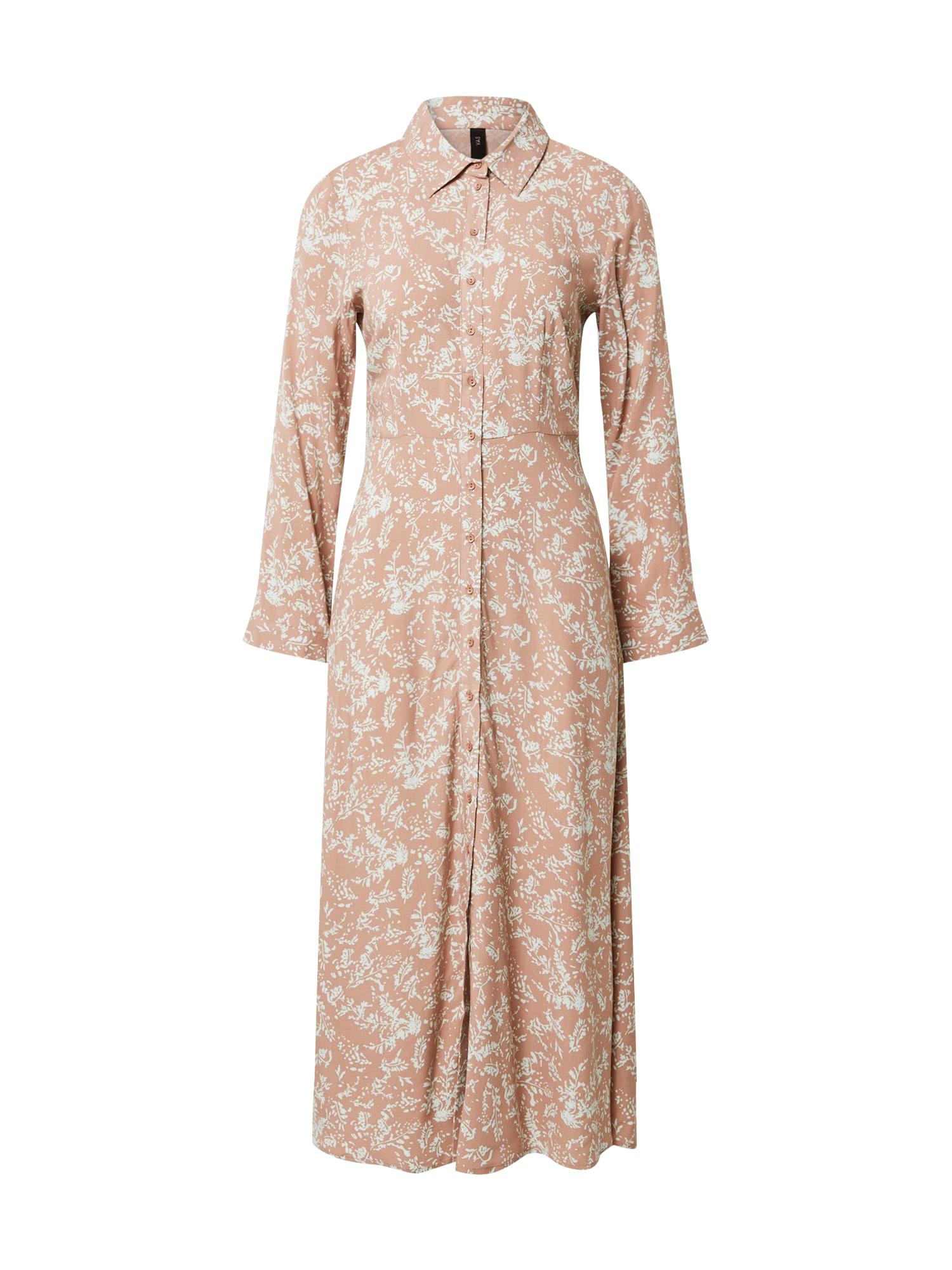 Y.A.S Košeľové šaty 'YASCORNA SAVANNA'  hnedé
