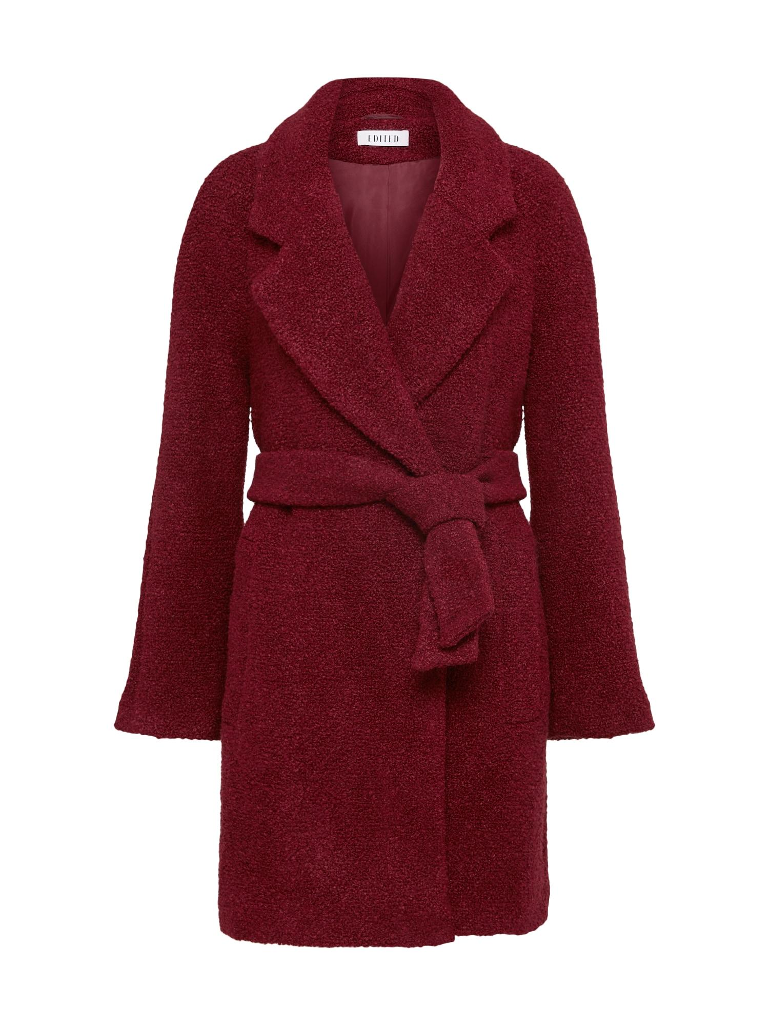EDITED Rudeninis-žieminis paltas 'Georgia' vyšninė spalva