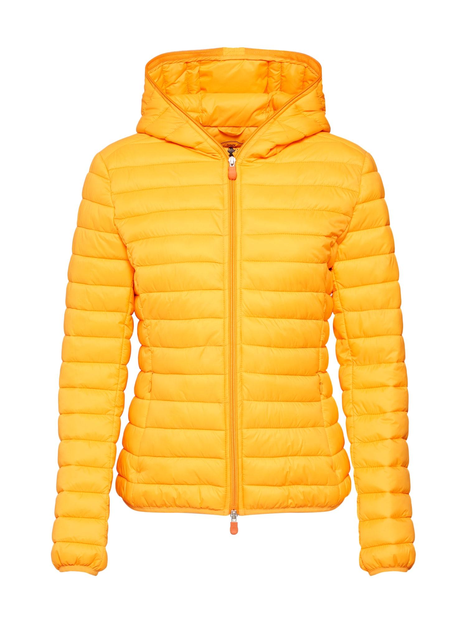 Zimní bunda GIUBBOTTO CAPPUCCIO oranžová SAVE THE DUCK