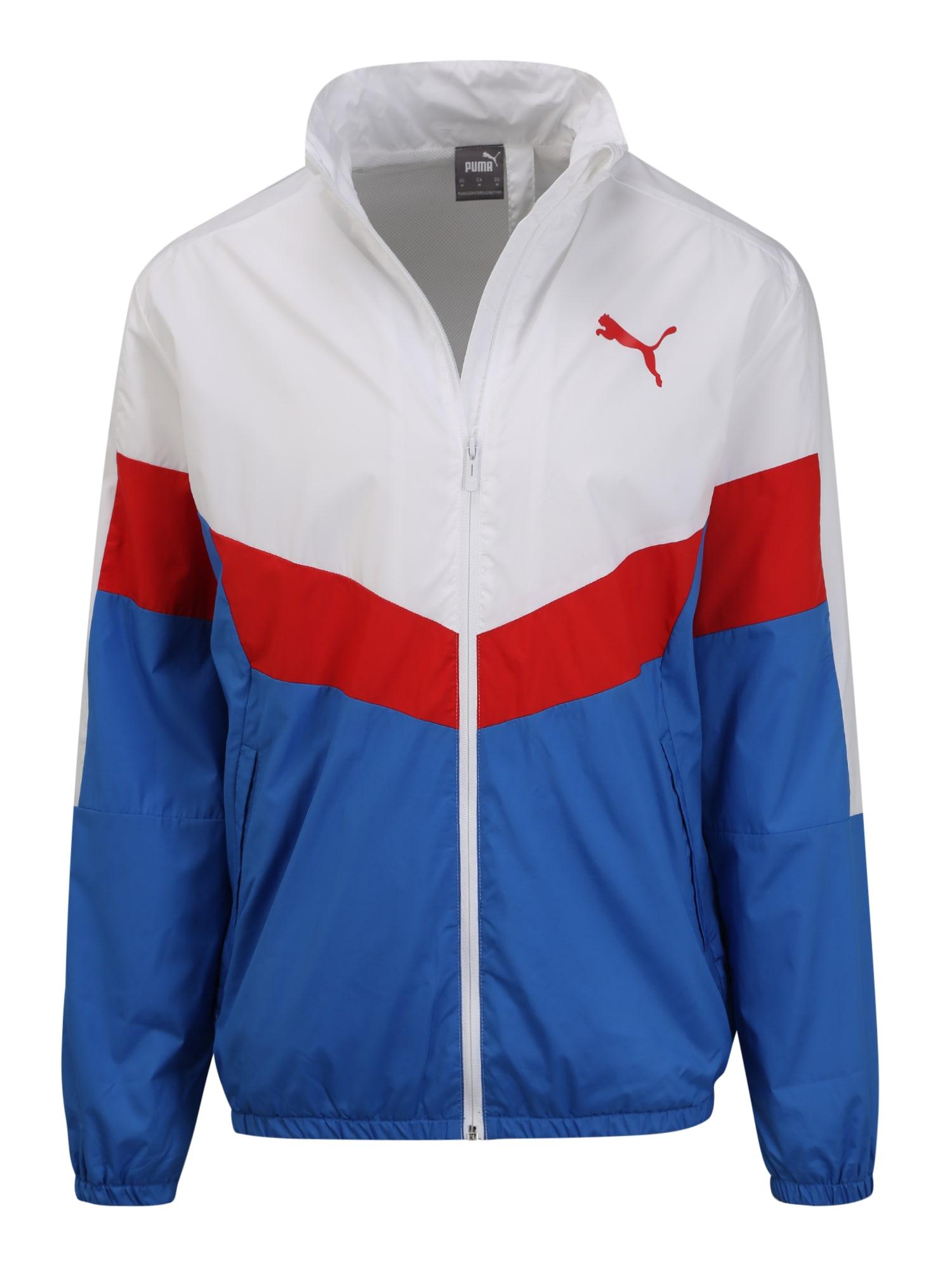 PUMA Džemperis treniruotėms mėlyna / balta / raudona