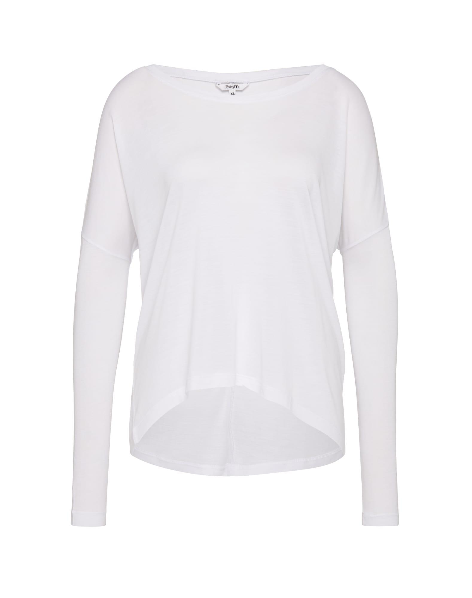 mbym Oversize tričko 'Petrol'  biela