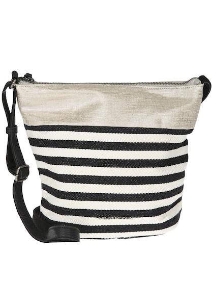 Schultertaschen für Frauen - FREDsBRUDER Crossbody Bag 'LOVE ME!' schwarz weiß  - Onlineshop ABOUT YOU