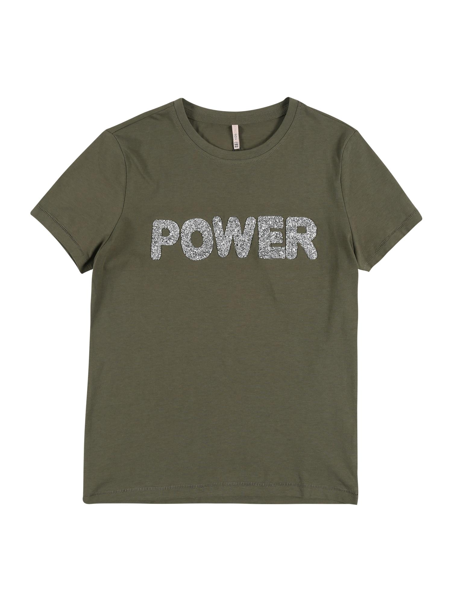 KIDS ONLY Marškinėliai 'KONVOYAGE' rusvai žalia