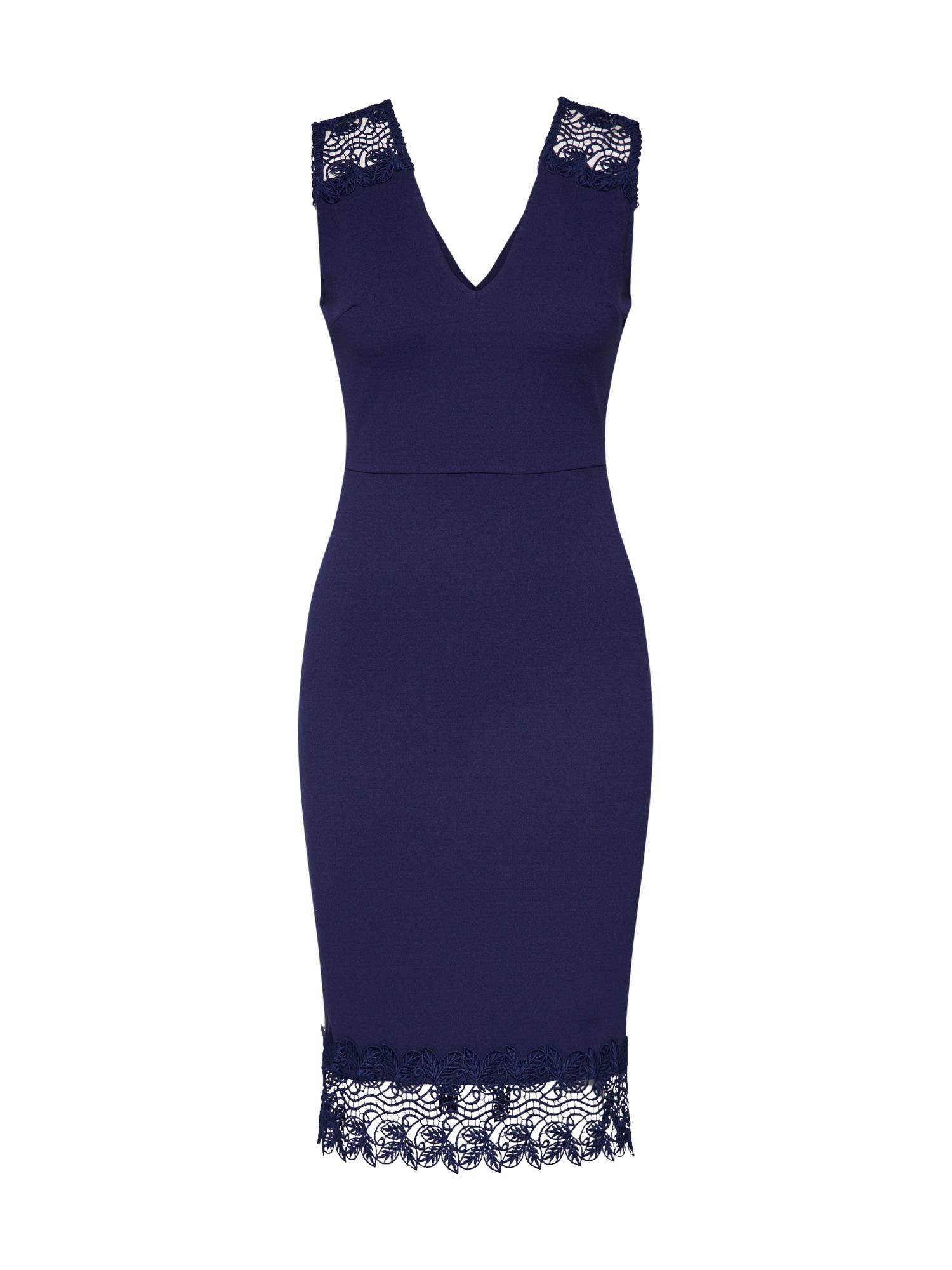 Koktejlové šaty námořnická modř Dorothy Perkins