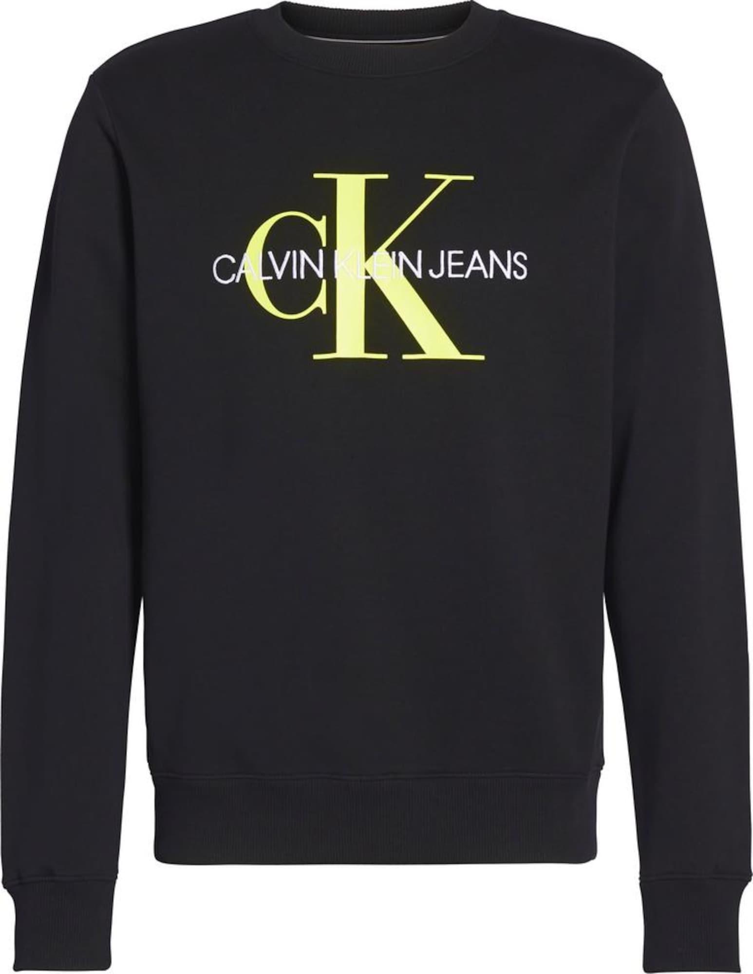 Calvin Klein Jeans Megztinis be užsegimo neoninė geltona / juoda