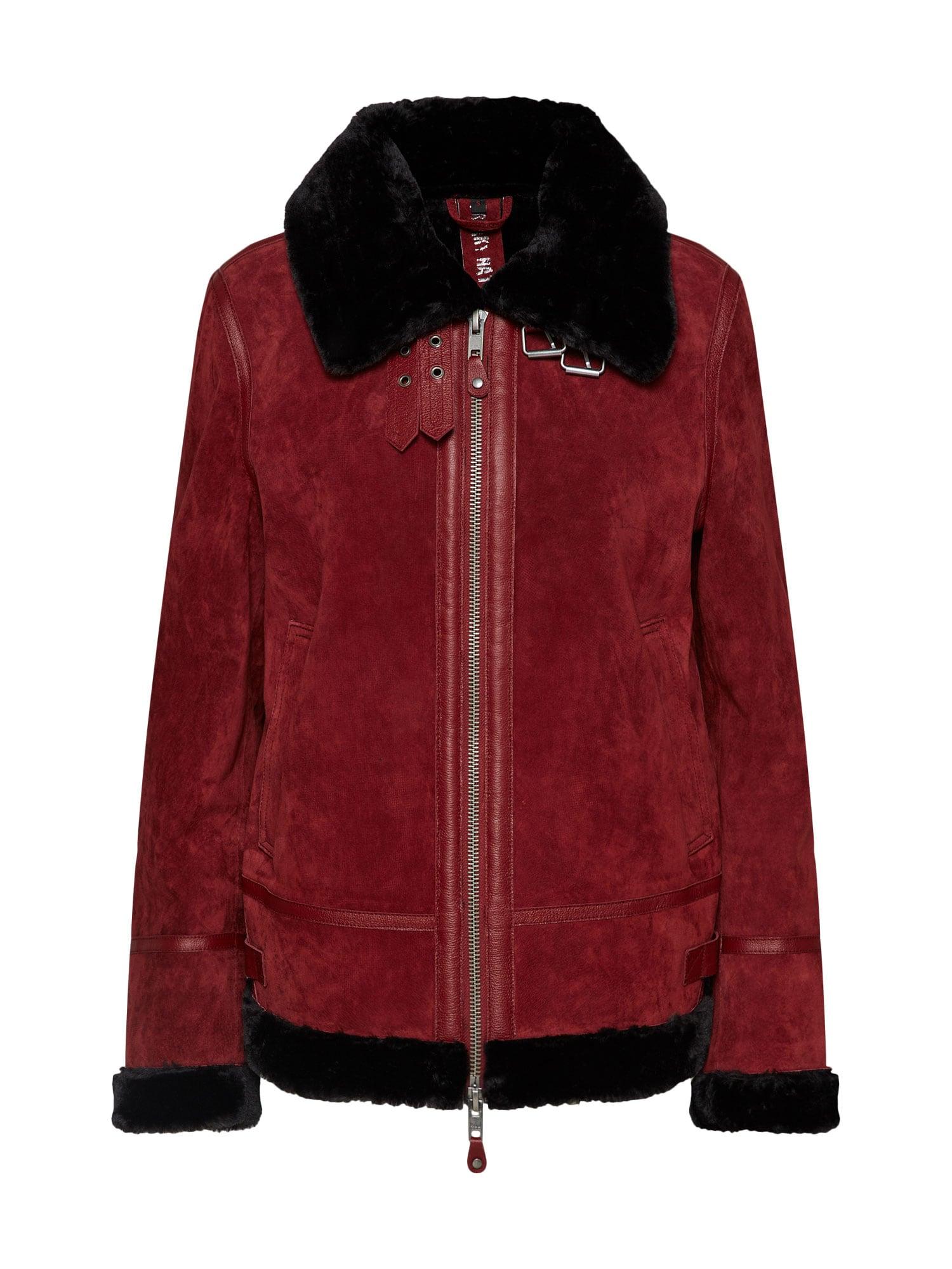 Zimní bunda Samira bordó černá FREAKY NATION
