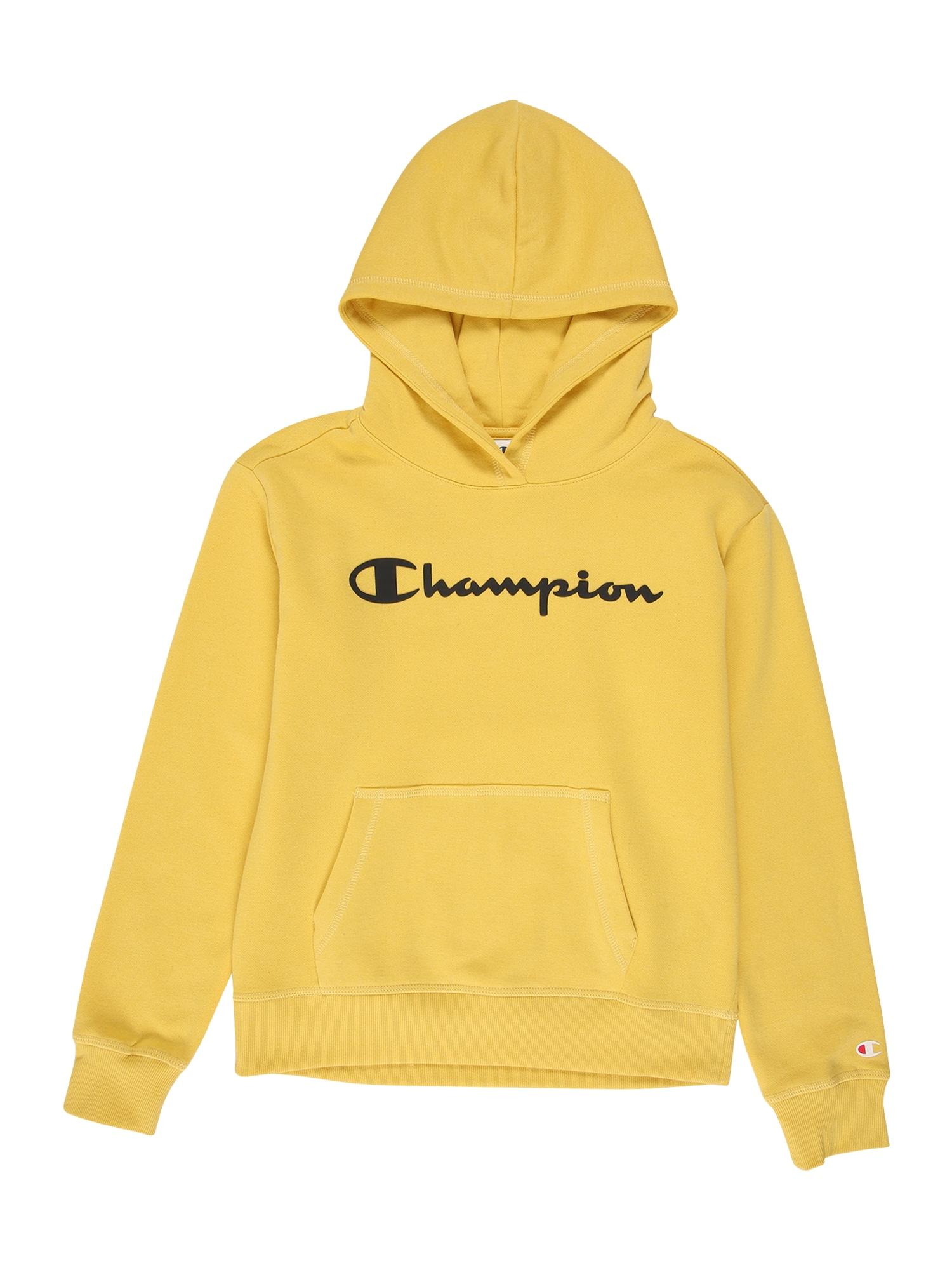 Champion Authentic Athletic Apparel Megztinis be užsegimo aukso geltonumo spalva / juoda