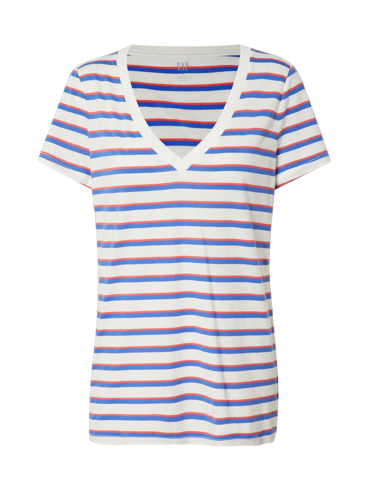GAP Marškinėliai mėlyna / balta