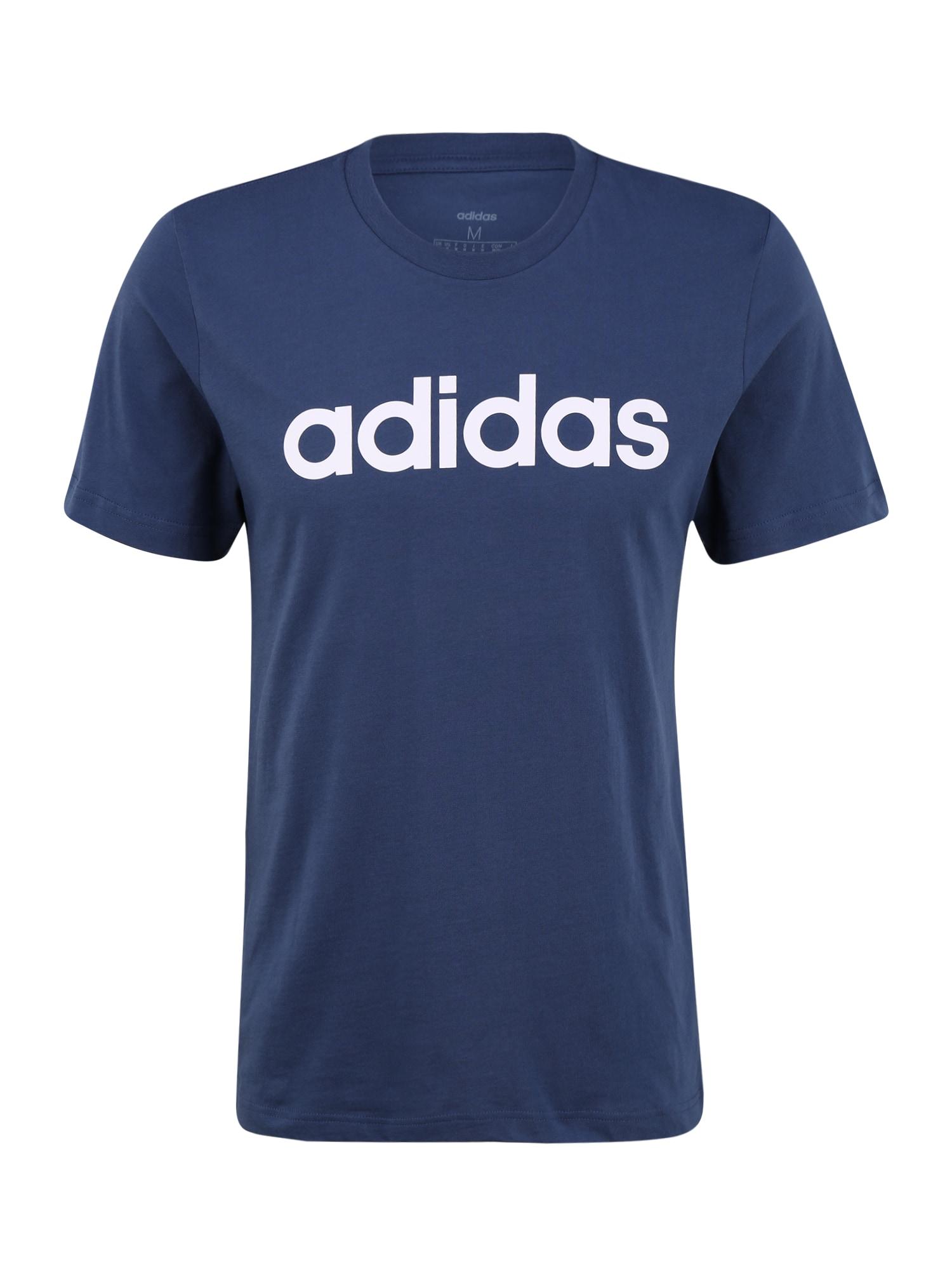 ADIDAS PERFORMANCE Sportiniai marškinėliai balta / mėlyna