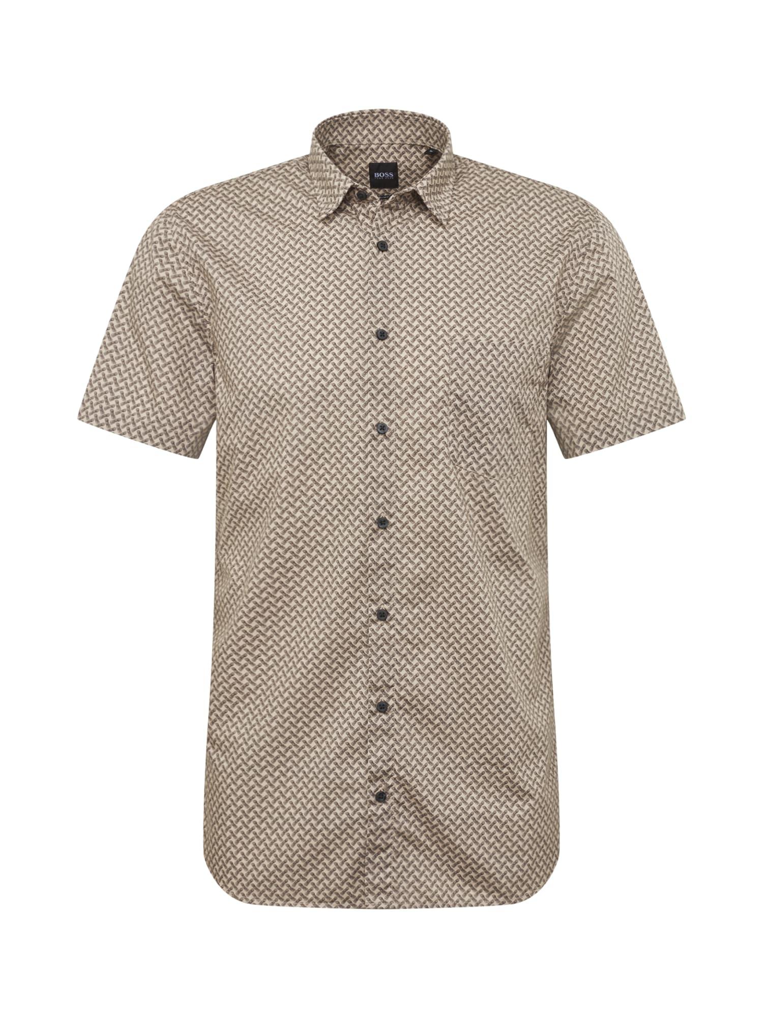 BOSS Dalykiniai marškiniai 'Magneton_1-short 10216566 0' gelsvai pilka spalva