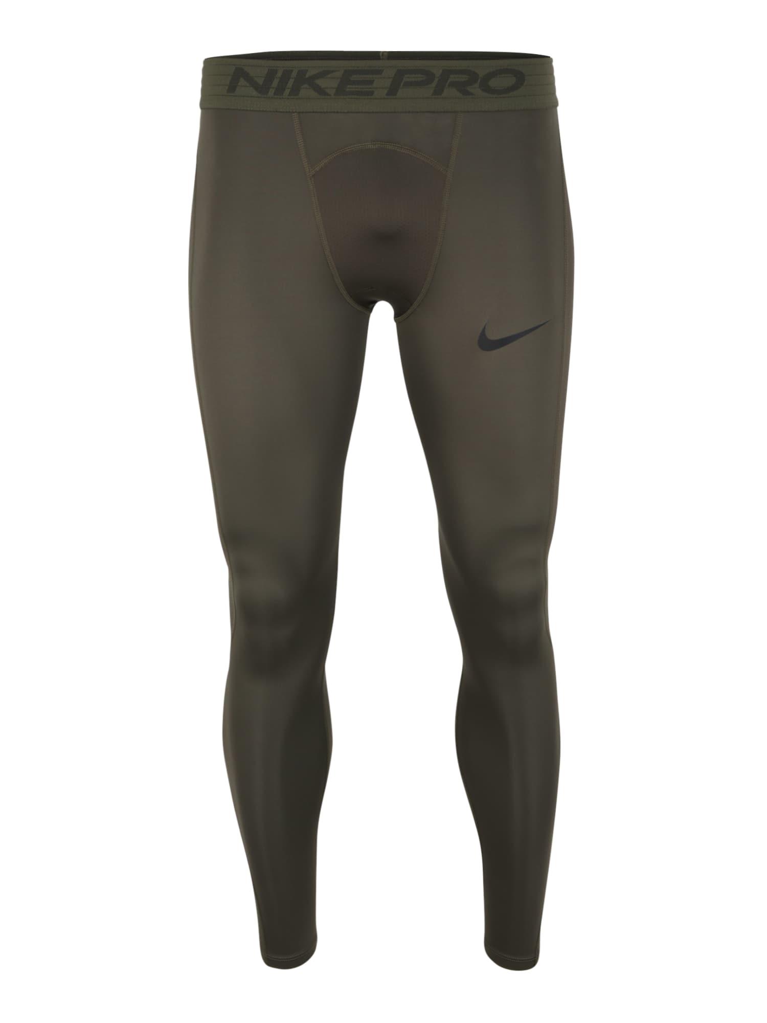 NIKE Sportinės kelnės rusvai žalia