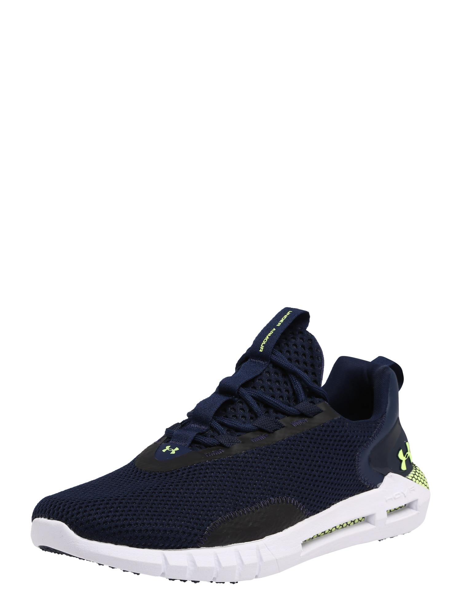 UNDER ARMOUR Bėgimo batai 'HOVR STRT' žaliosios citrinos spalva / tamsiai mėlyna / balta