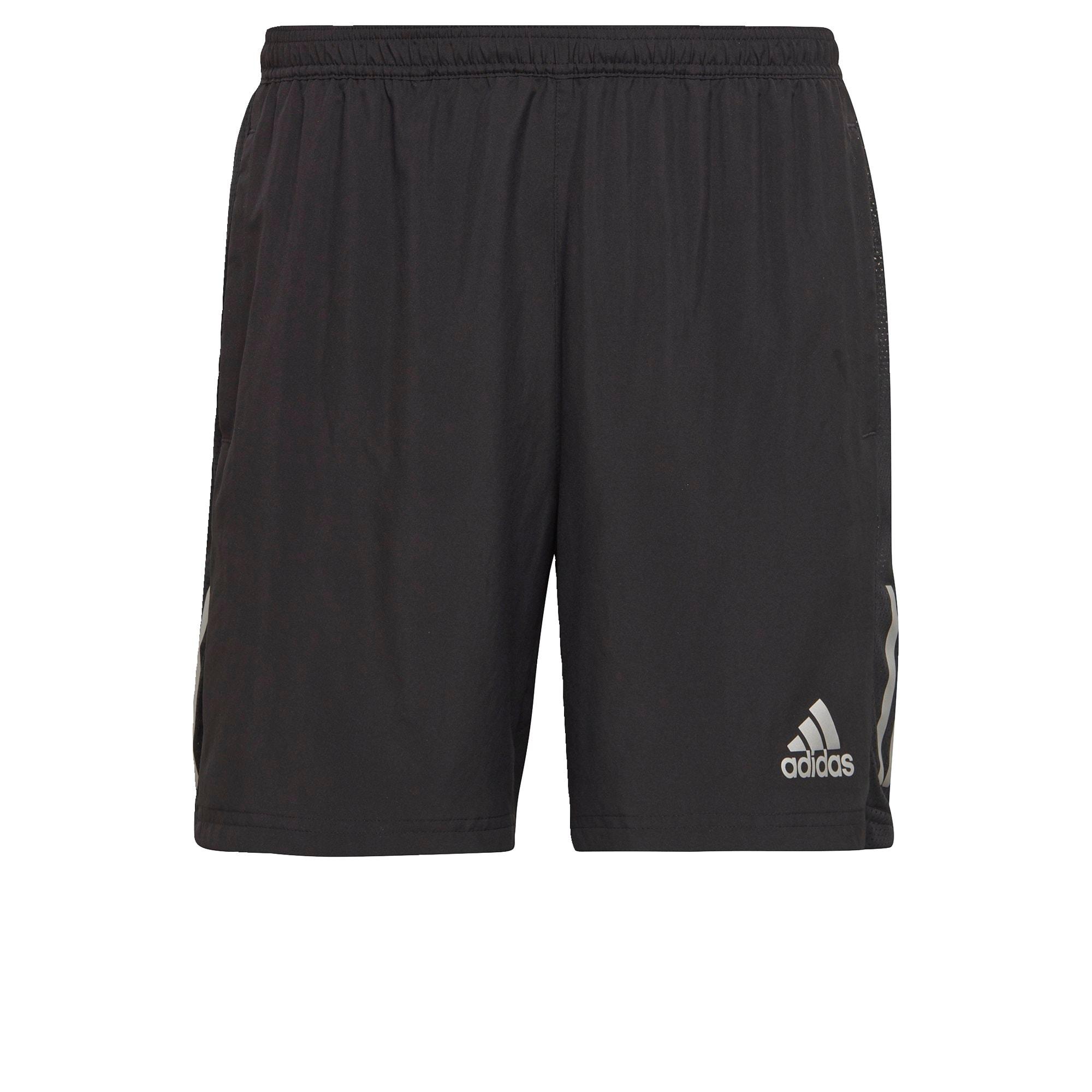 ADIDAS PERFORMANCE Sportovní kalhoty 'Own the Run Two-in-One '  černá / šedá